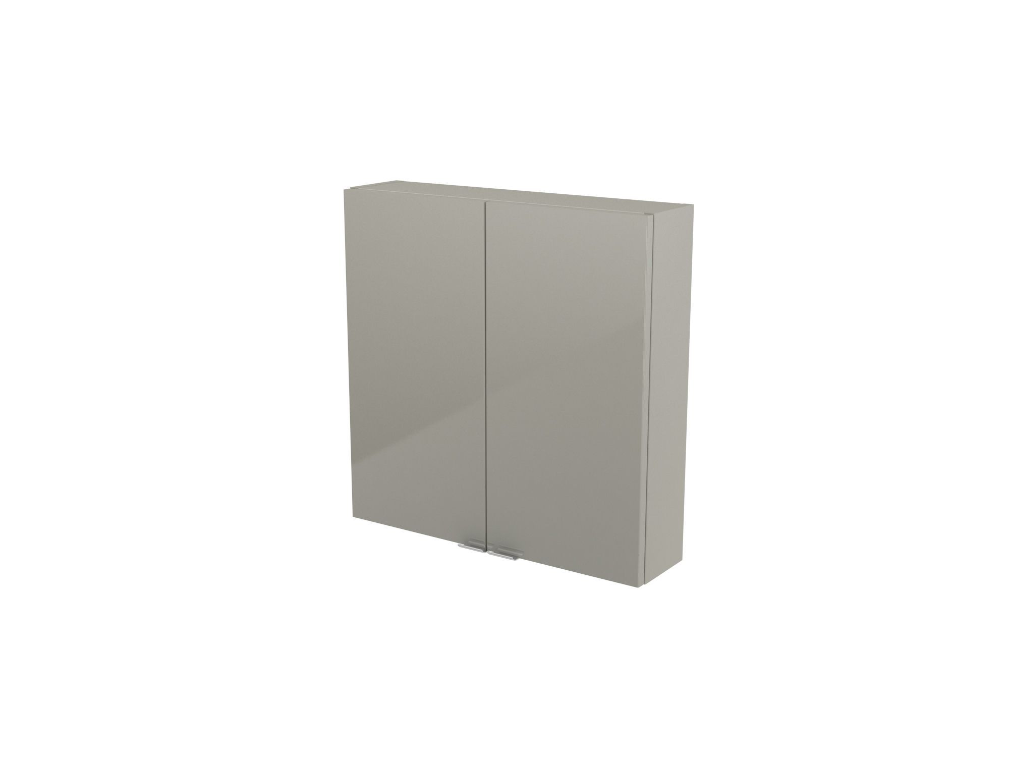 Cooke & Lewis Imandra Gloss Taupe Short Wall Cabinet, (w)600mm