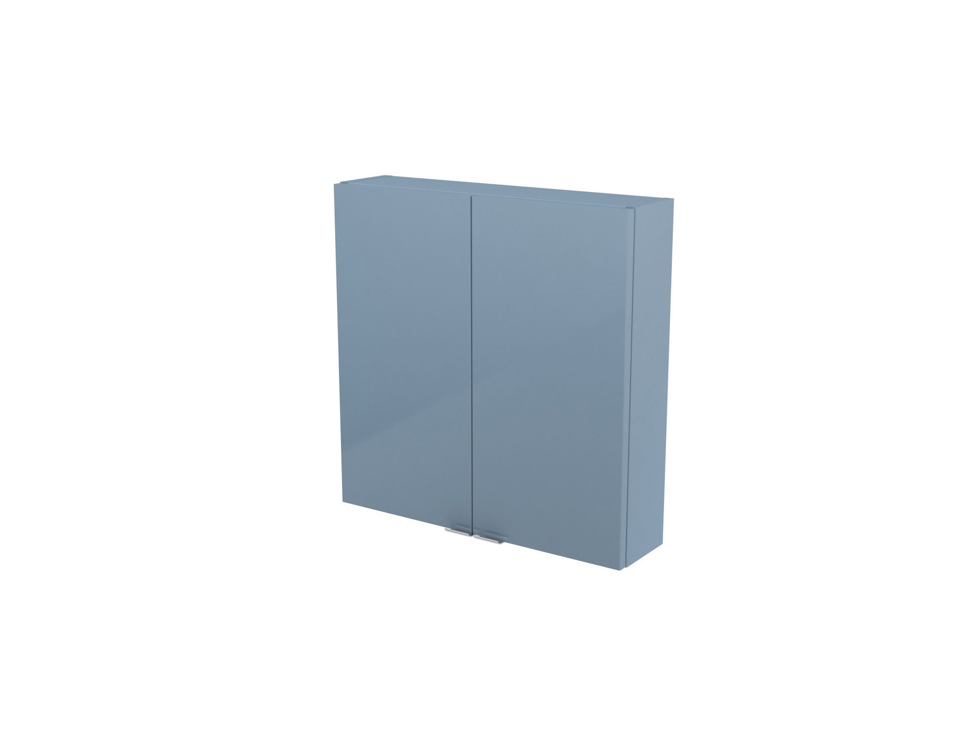 Cooke & Lewis Imandra Gloss Blue Short Wall Cabinet, (w)600mm