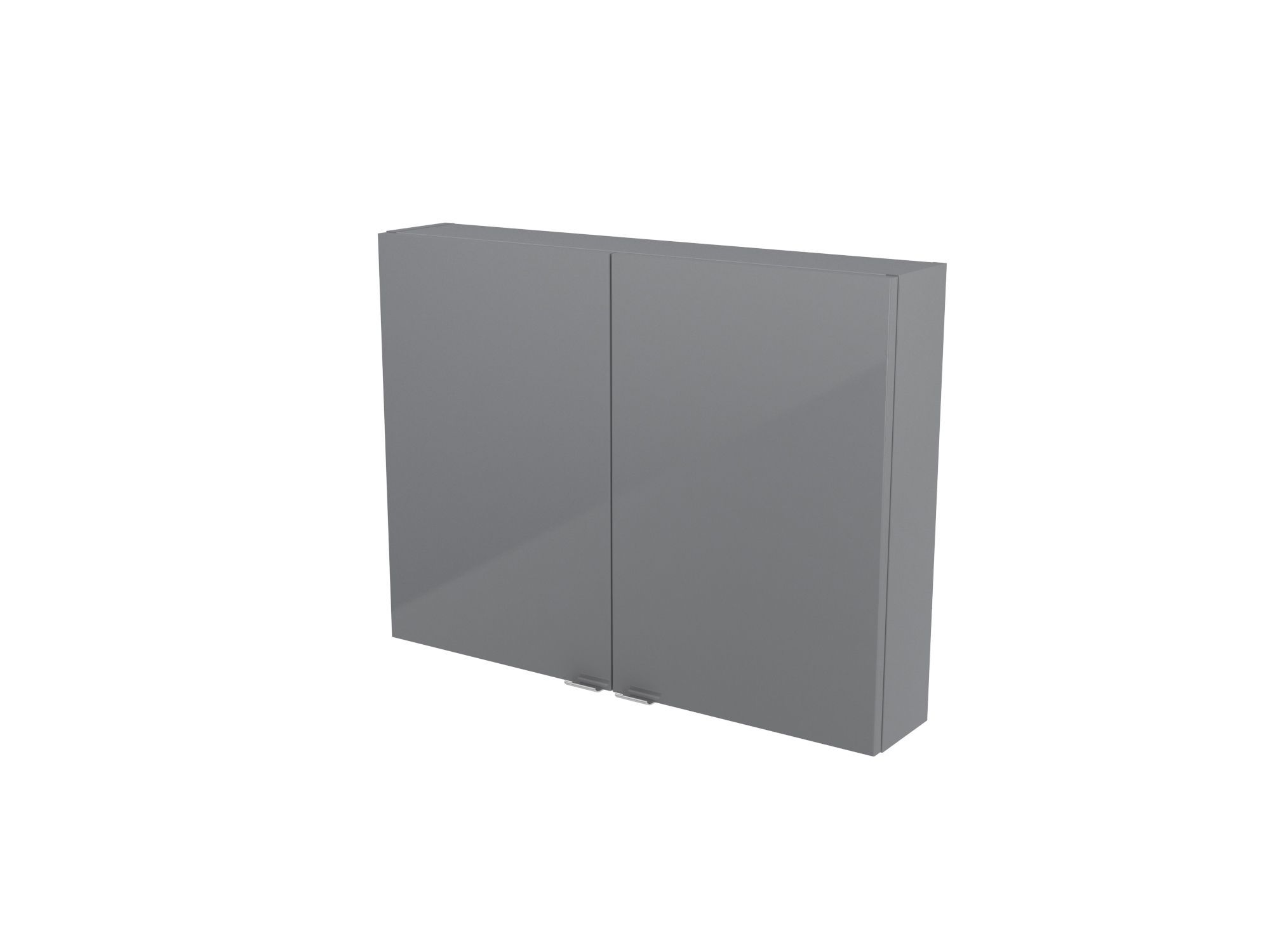 Cooke & Lewis Imandra Gloss Grey Short Wall Cabinet, (w)800mm