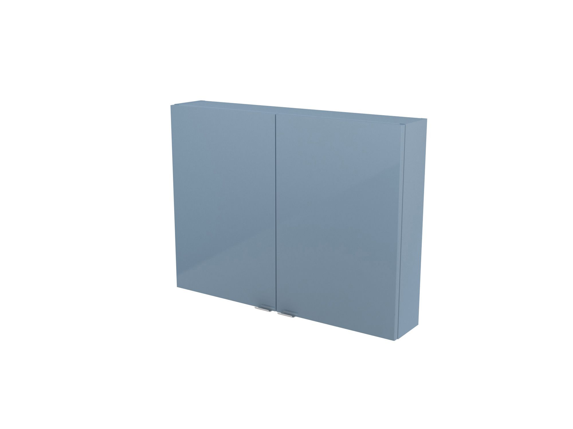 Cooke & Lewis Imandra Gloss Blue Short Wall Cabinet, (w)800mm