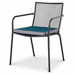 Adelaide Plain Blue & Grey Seat Cushion