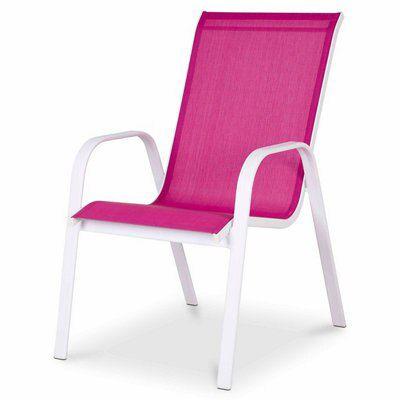 Janeiro Pink Metal Armchair