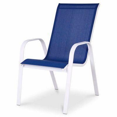 Janeiro Sapphire Blue Metal Armchair