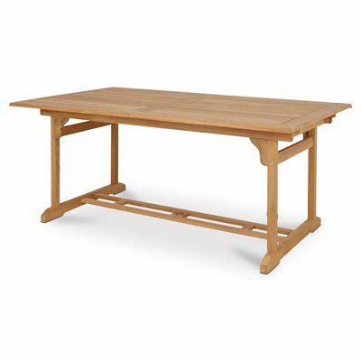 roscana wooden 6 seater extendable dining table
