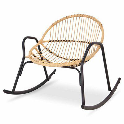 Cuba rattan rocking chair departments diy at b q - Rocking chair alinea ...