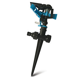 Blue & Black Oscillating Spike Sprinkler
