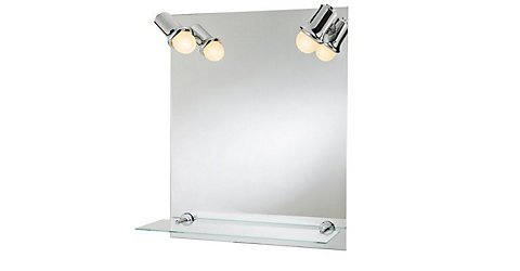 COOKE & LEWIS CLARACH ILLUMINATED RECTANGULAR MIRROR