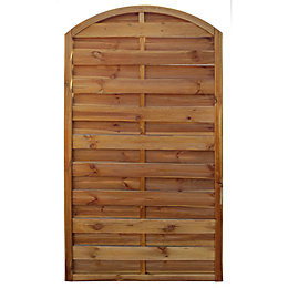 Oussouri Wooden Arched Fence Panel (W)900mm (H)1800mm