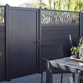 Blooma NEVA Decorative Aluminium 1/4 Panel in garden