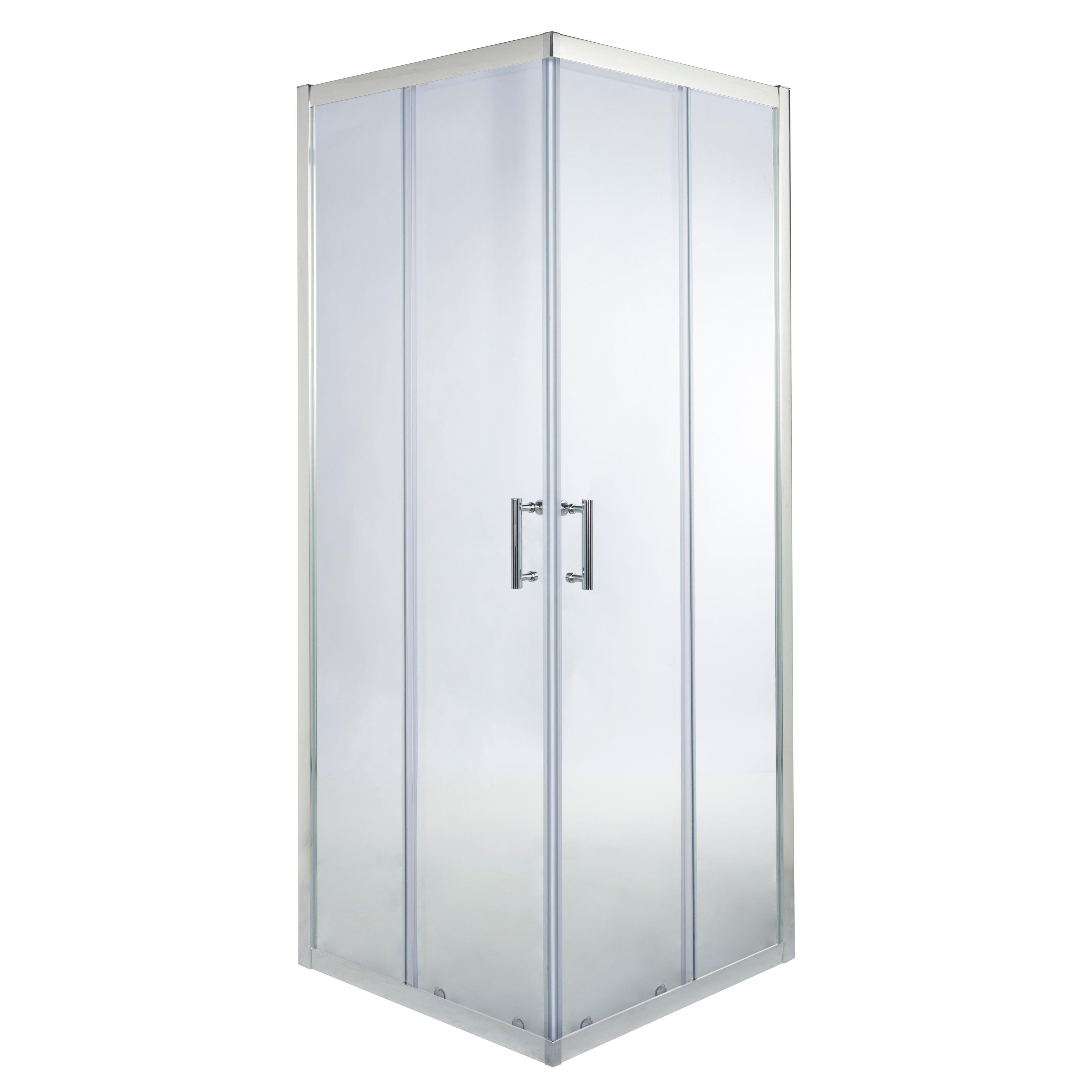 Cooke & Lewis Onega Square Shower Enclosure With Corner Entry Double Sliding Door (w)700mm (d)700mm
