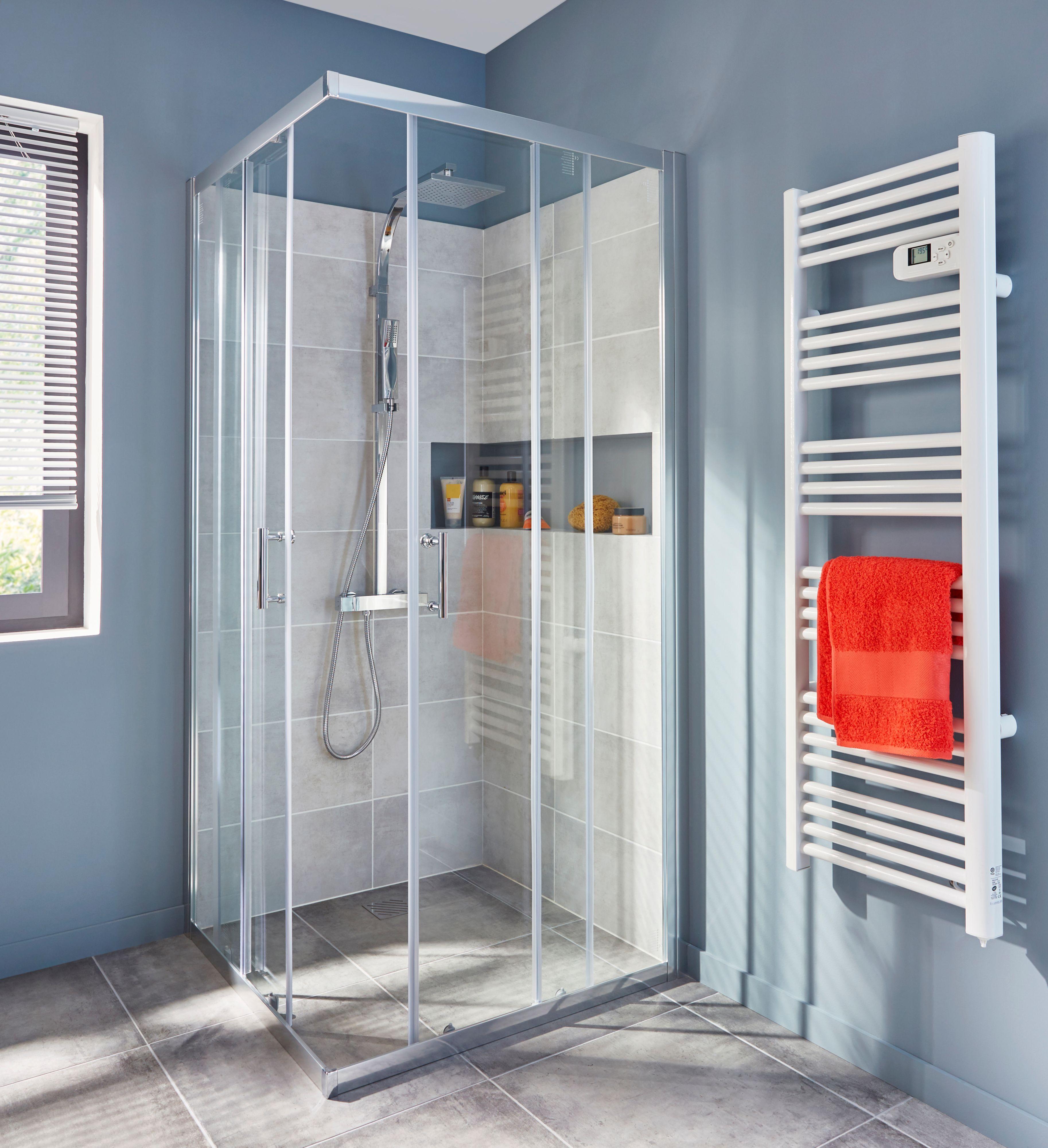 Cooke U0026 Lewis Onega Square Shower Enclosure With Corner Sliding Door