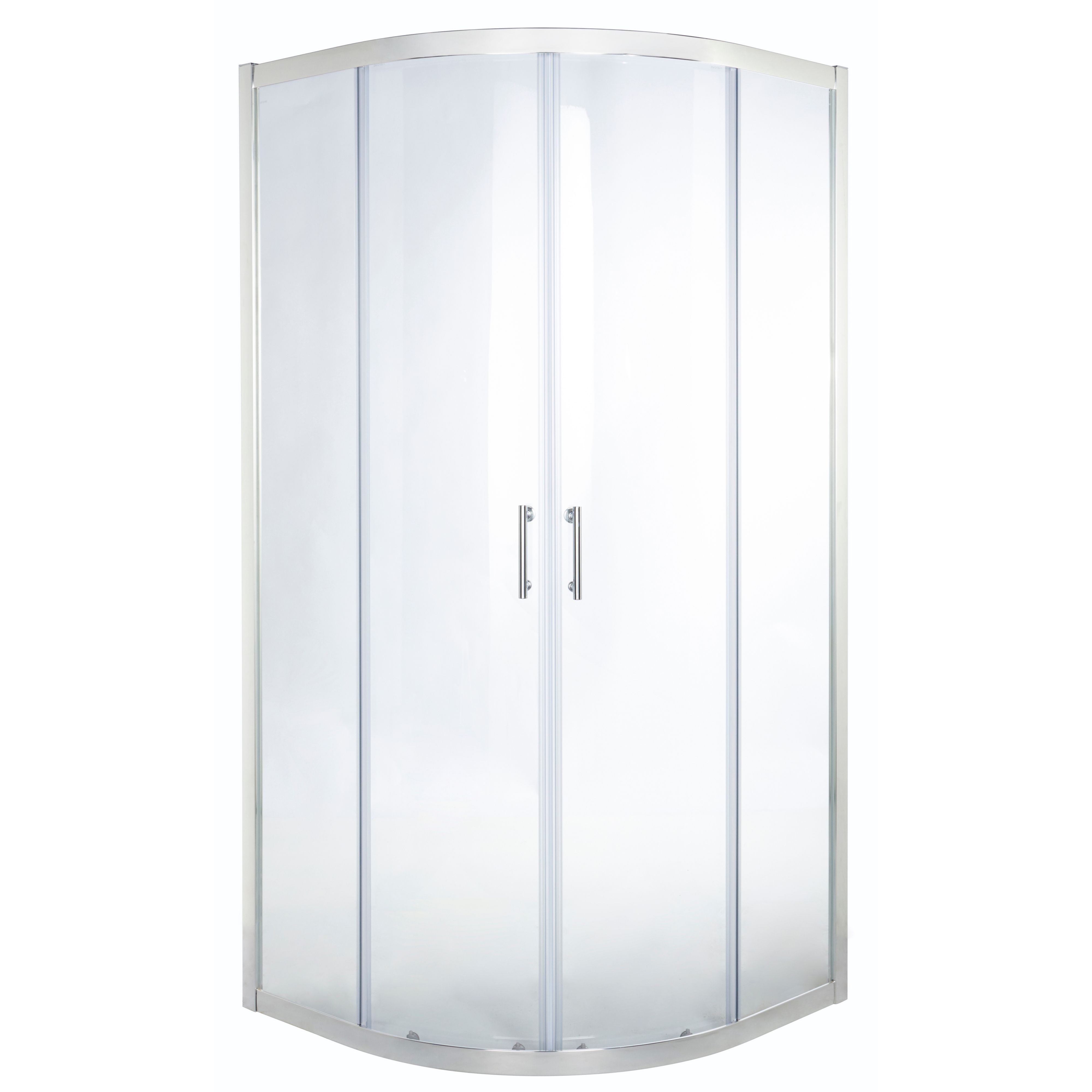 Cooke & Lewis Onega Quadrant Shower Enclosure With Corner Entry Double Sliding Door (w)900mm (d)900mm