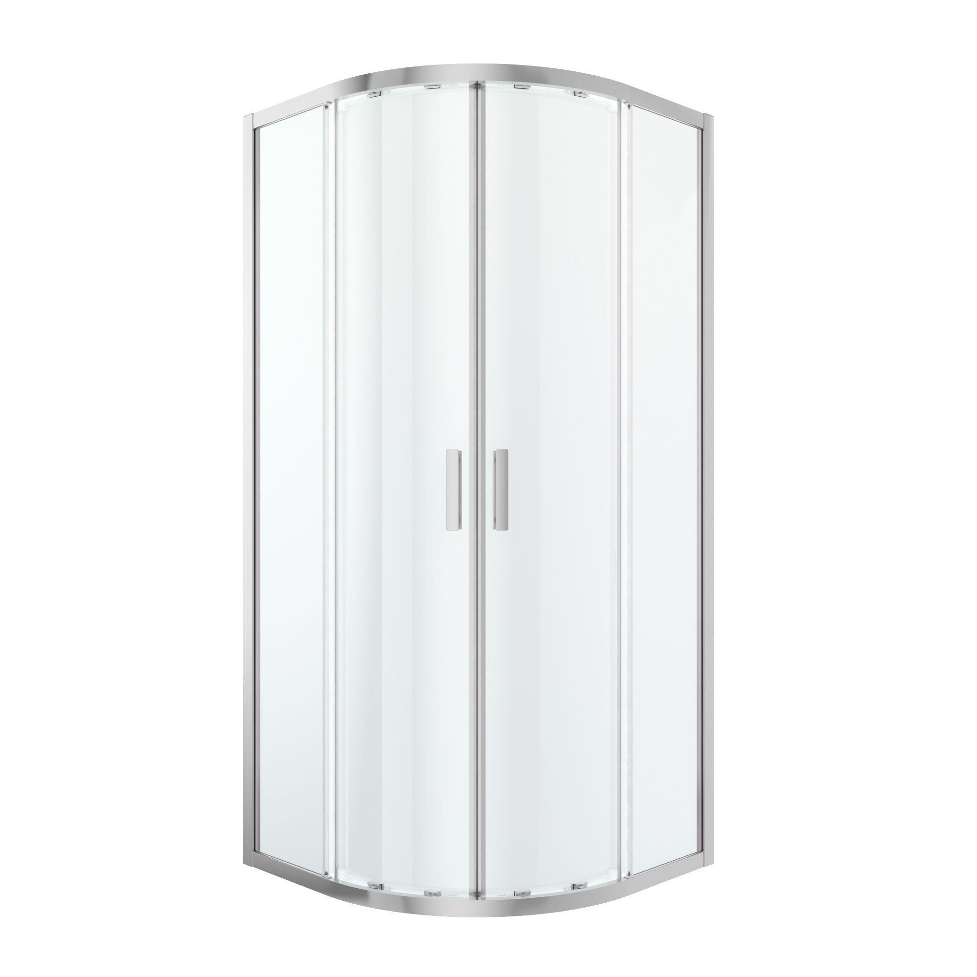 Cooke & Lewis Beloya Quadrant Shower Enclosure With Corner Entry Double Sliding Door (w)900mm (d)900mm