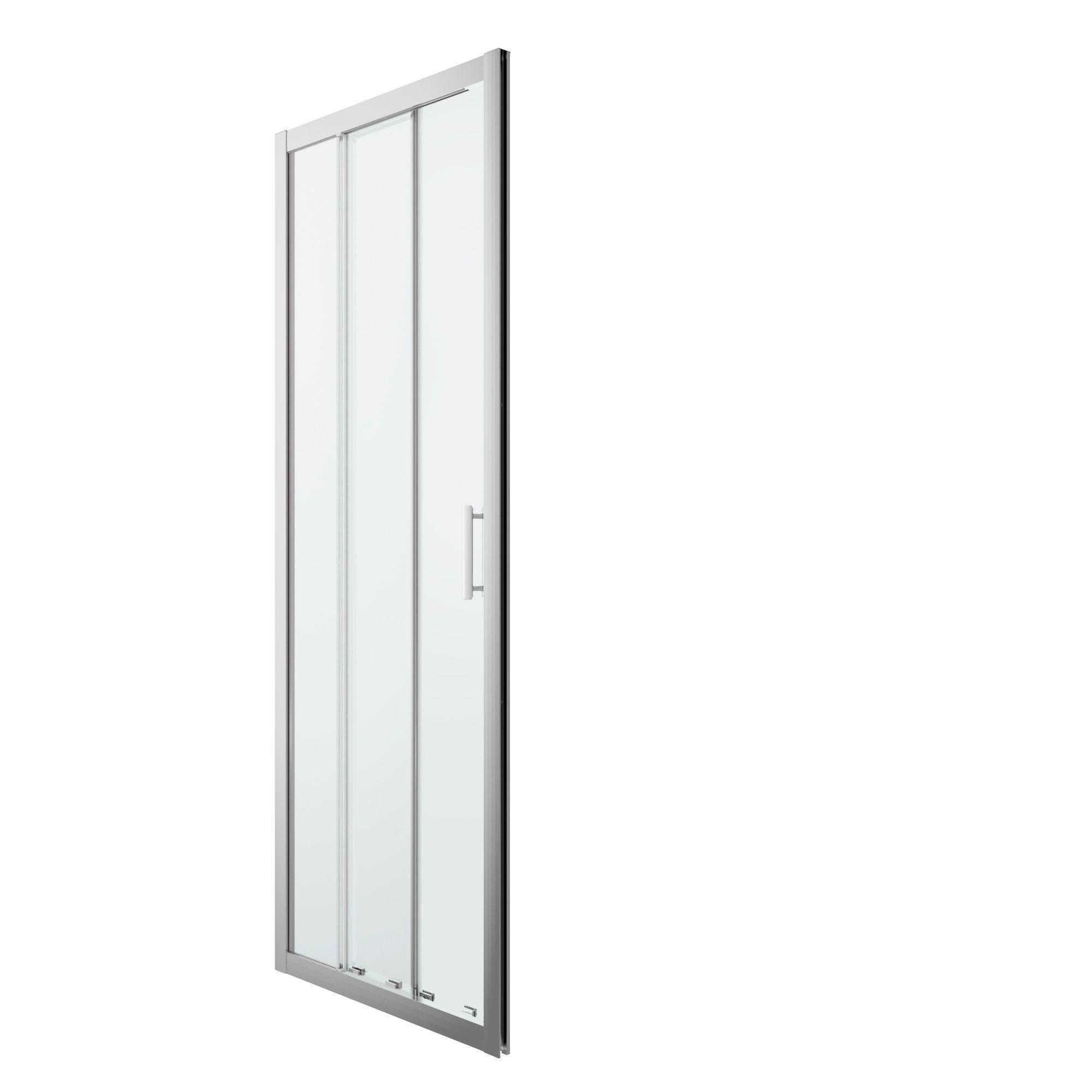 Cooke & Lewis Beloya 3 Panel Sliding Shower Door (w)760mm