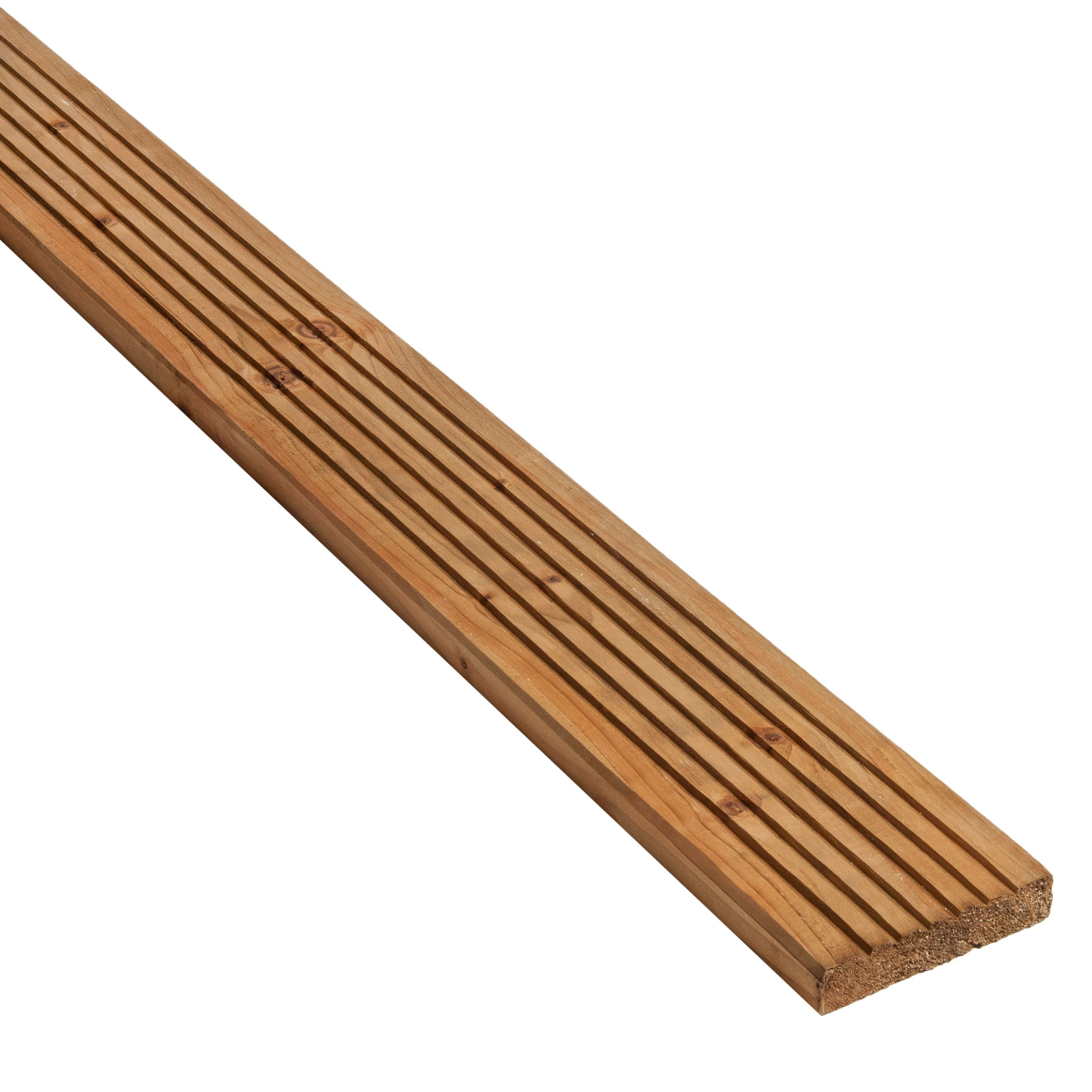 Blooma Madeira Value Brown Spruce Deck Board (t)24mm (w)120mm (l)2400mm