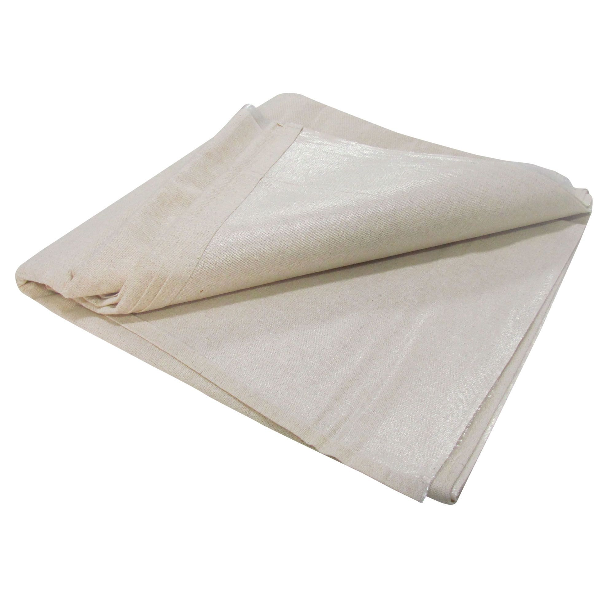 Diall Cotton & Polyethylene (pe) Backed Dust Sheet (l)3.67m (w) 2.74 M
