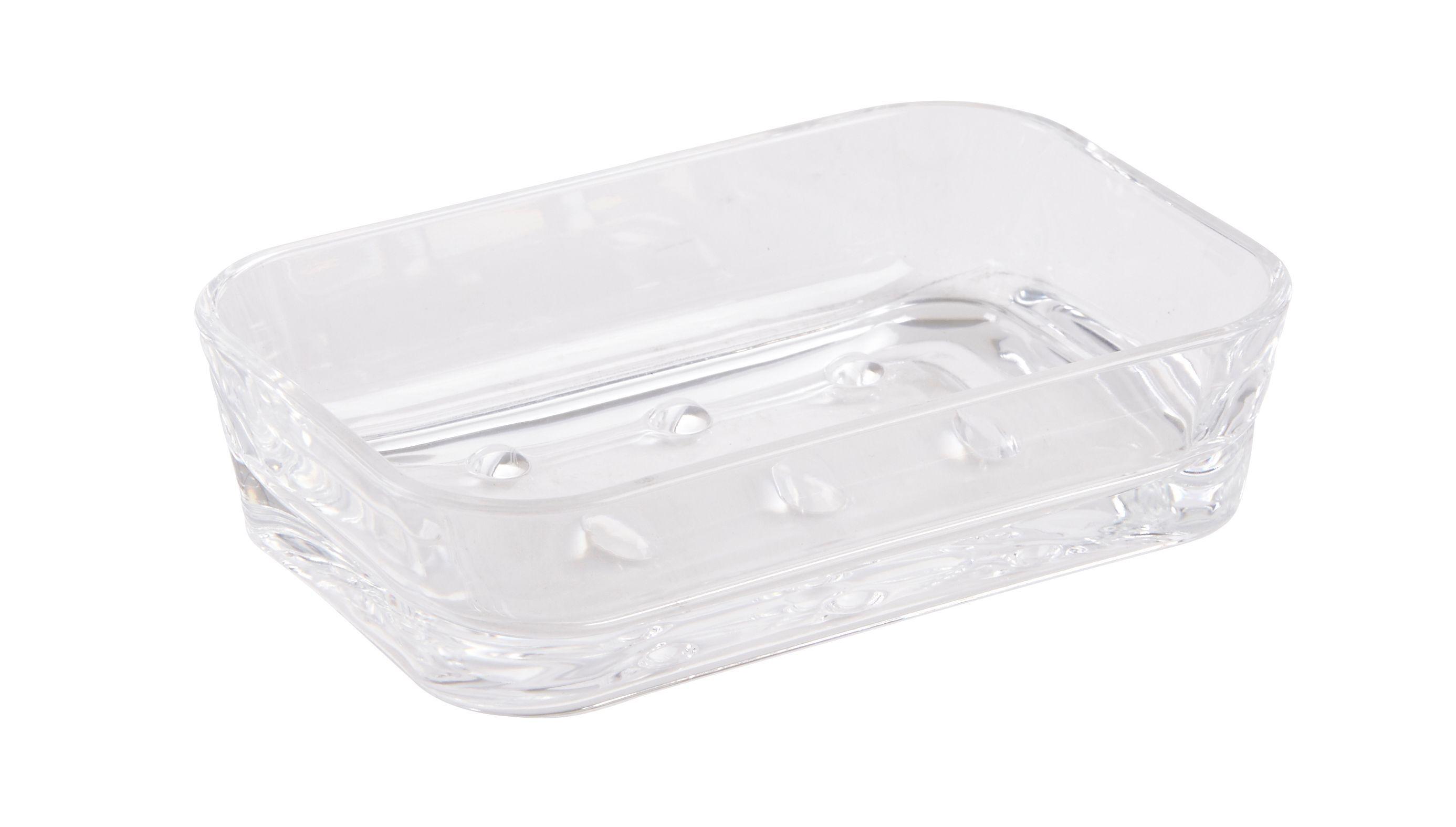 Cooke & Lewis Plexi Transparent Gloss Soap Dish