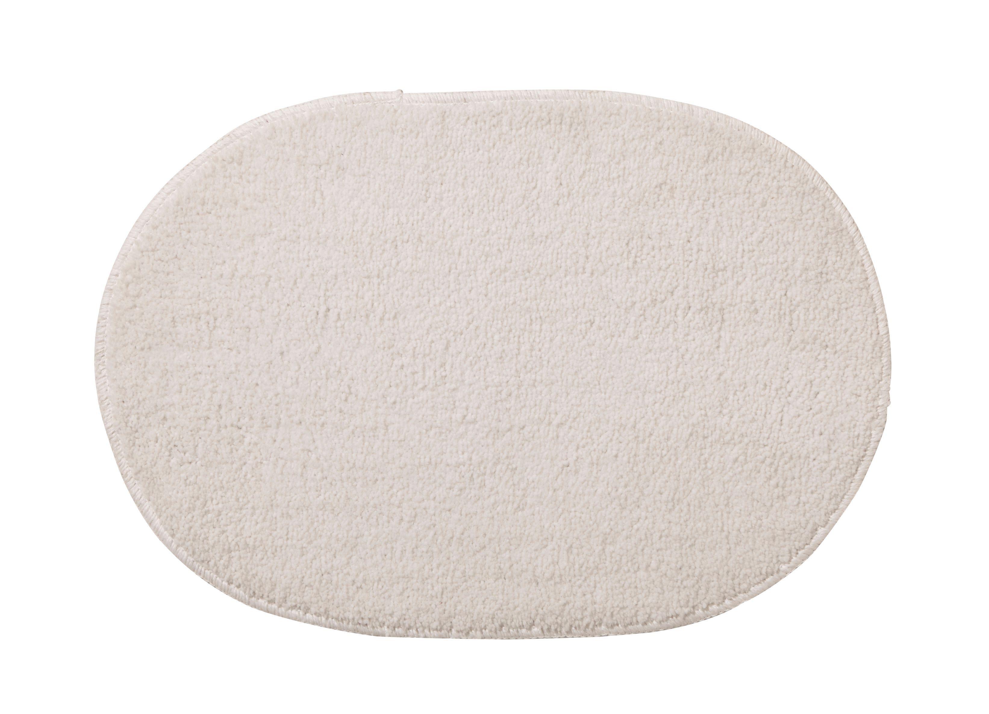 White Tufty Polyester Anti-slip Bath Mat (l)600mm (w)400mm