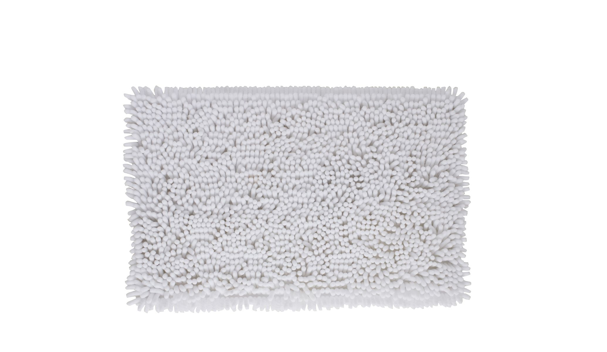 Cooke & Lewis Abava White Polyester Bath Mat (l)800mm (w)500mm