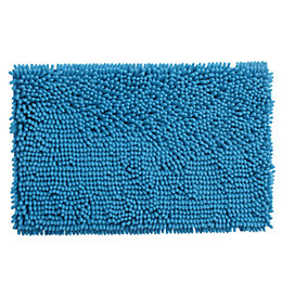 Cooke & Lewis Abava Blue Polyester Bath Mat