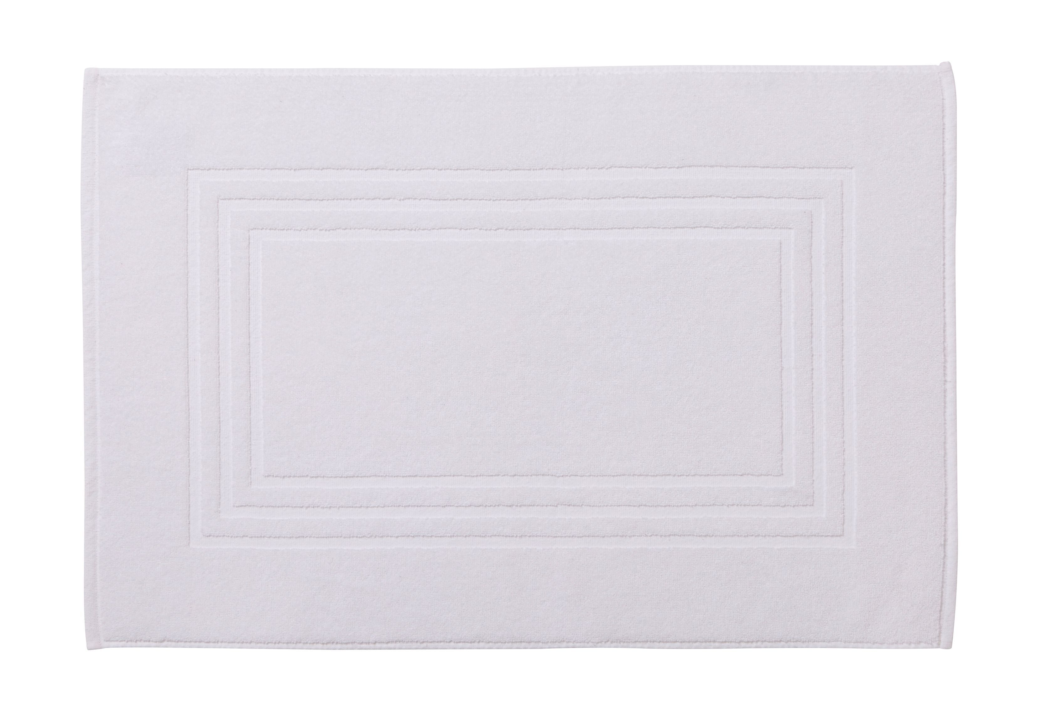 Cooke & Lewis Palmi White Cotton Bath Mat (l)800mm (w)500mm