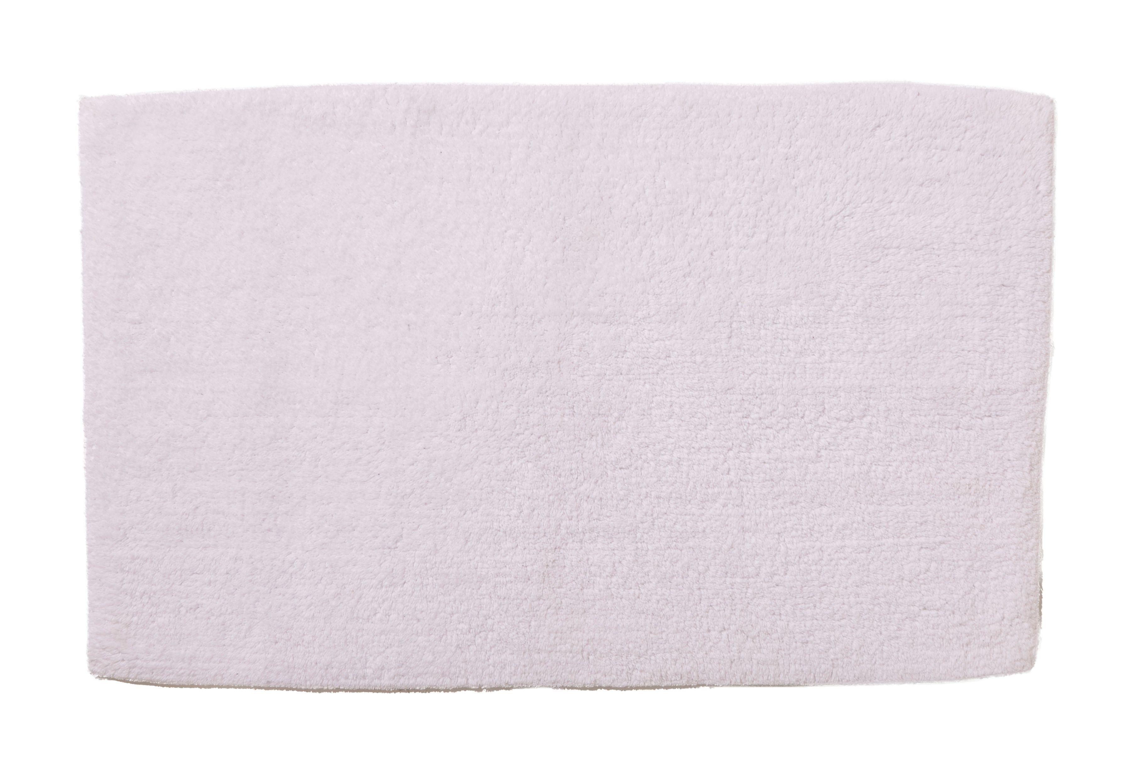 Cooke & Lewis Diani White Tufty Cotton Anti-slip Bath Mat (l)800mm (w)500mm