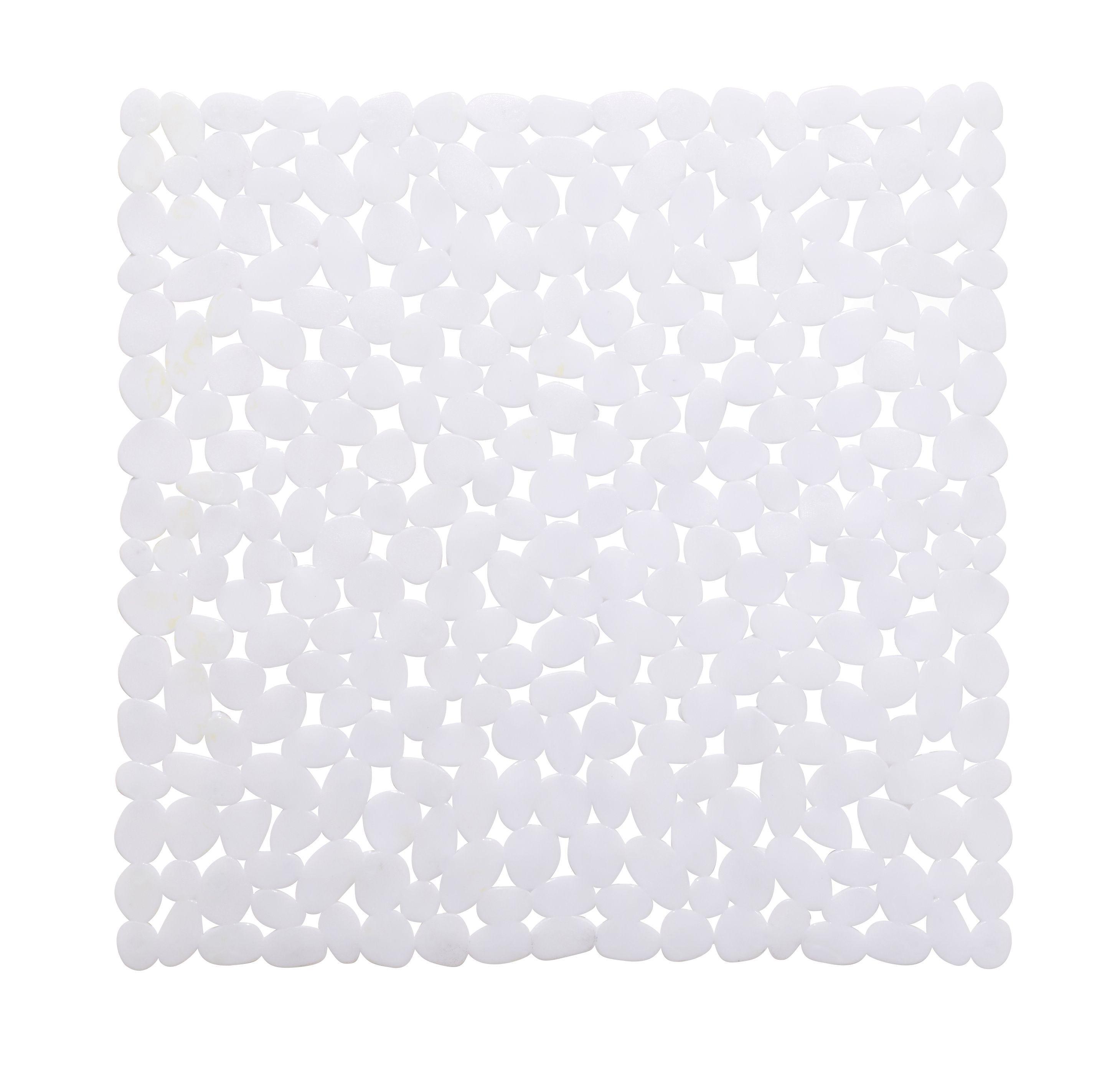 Cooke & Lewis Batumi White Pvc Anti-slip Bath Mat (l)520mm (w)520mm