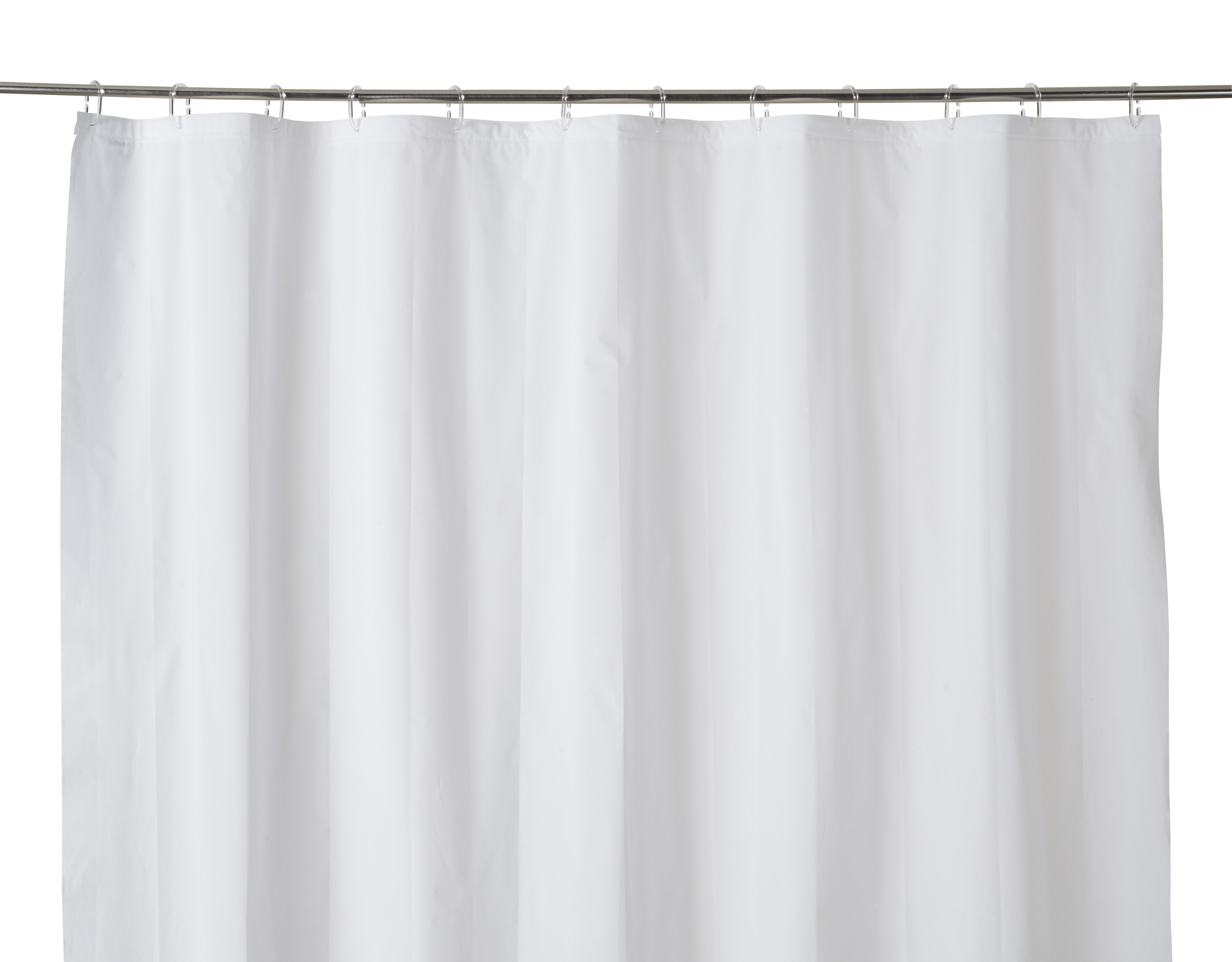 Cooke & Lewis Palmi White Shower Curtain (l)1800 Mm