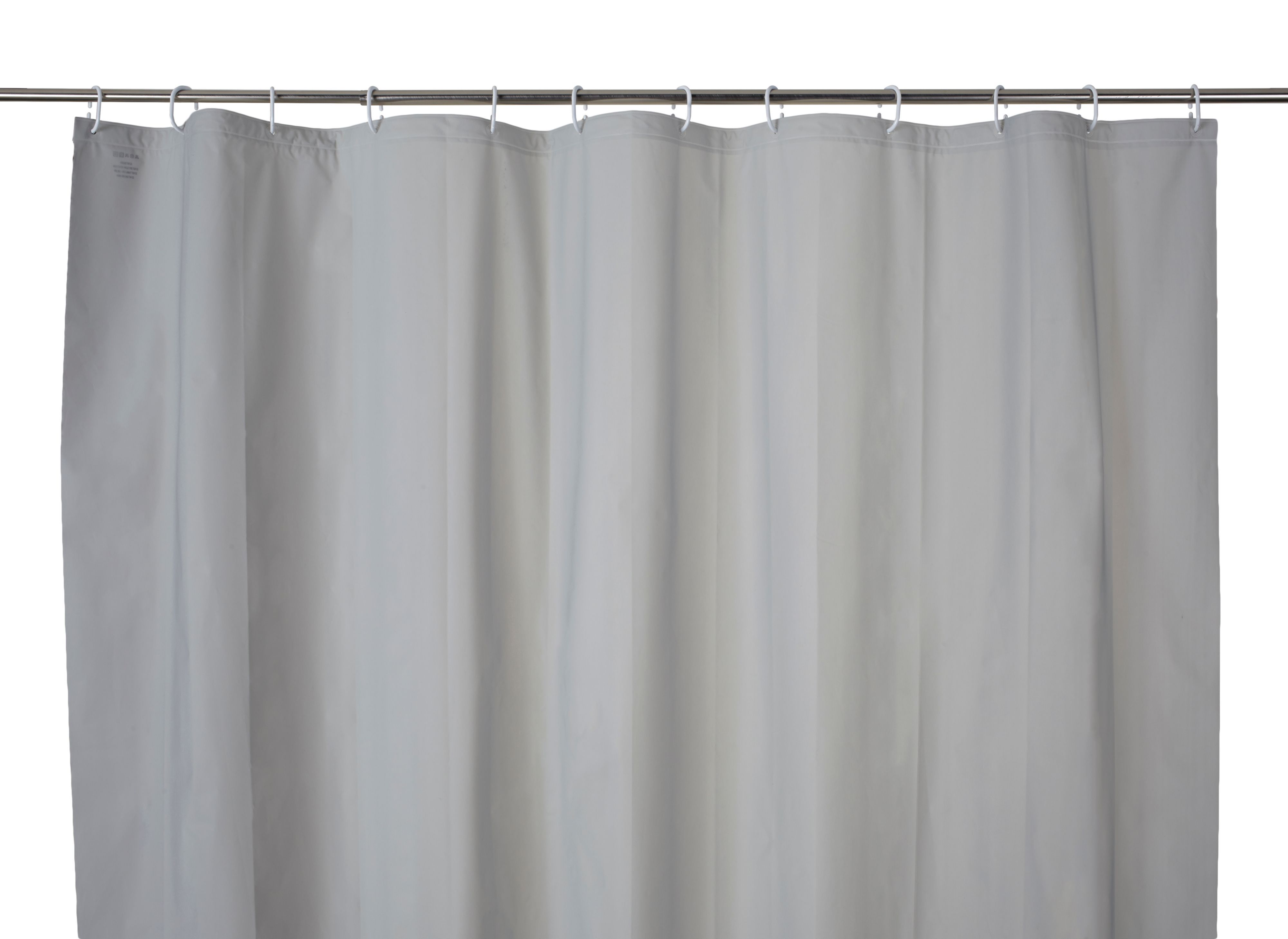 Cooke & Lewis Palmi Silver Shower Curtain (l)1800 Mm