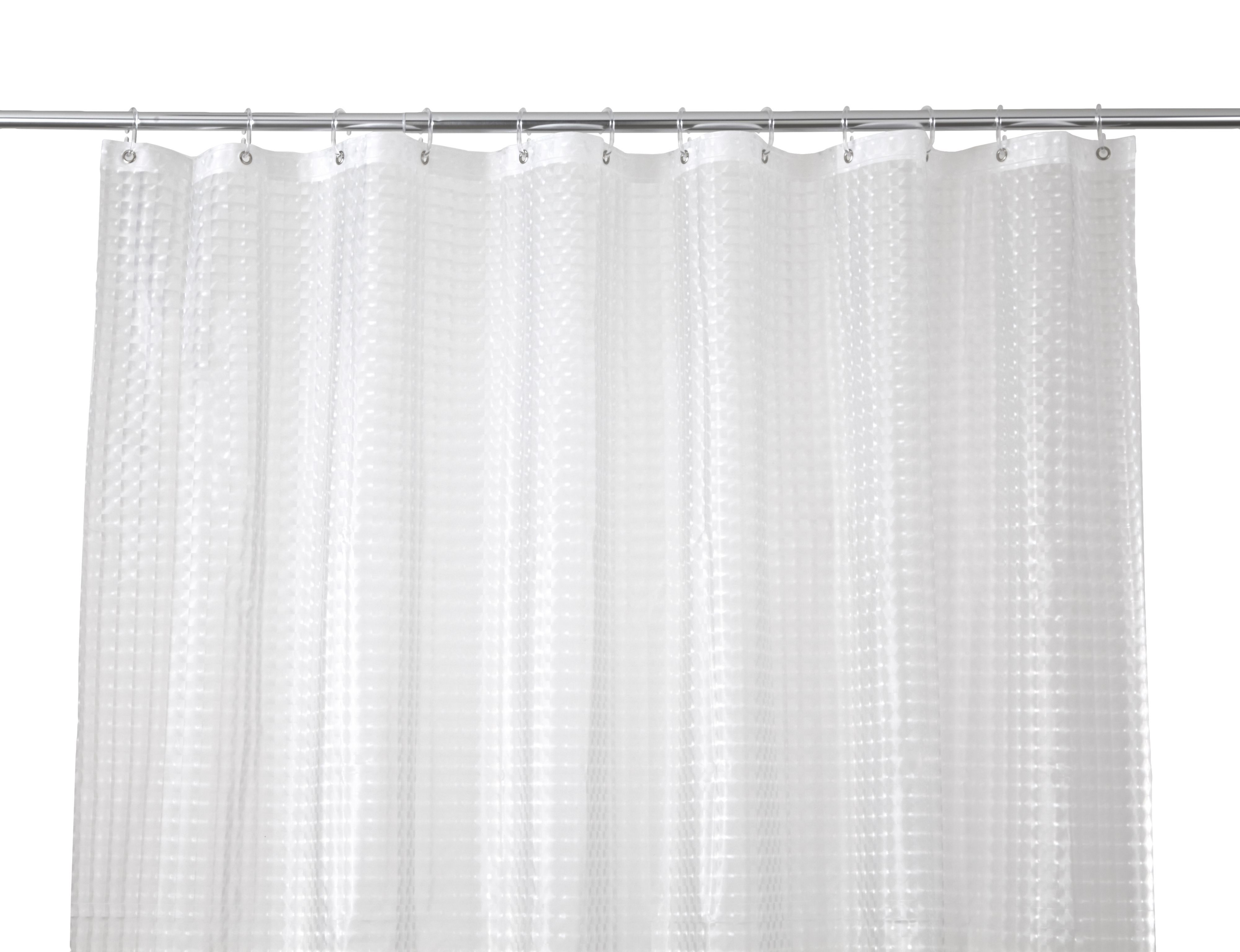 Cooke & Lewis Lacha Clear Waffle Shower Curtain (l)1800 Mm