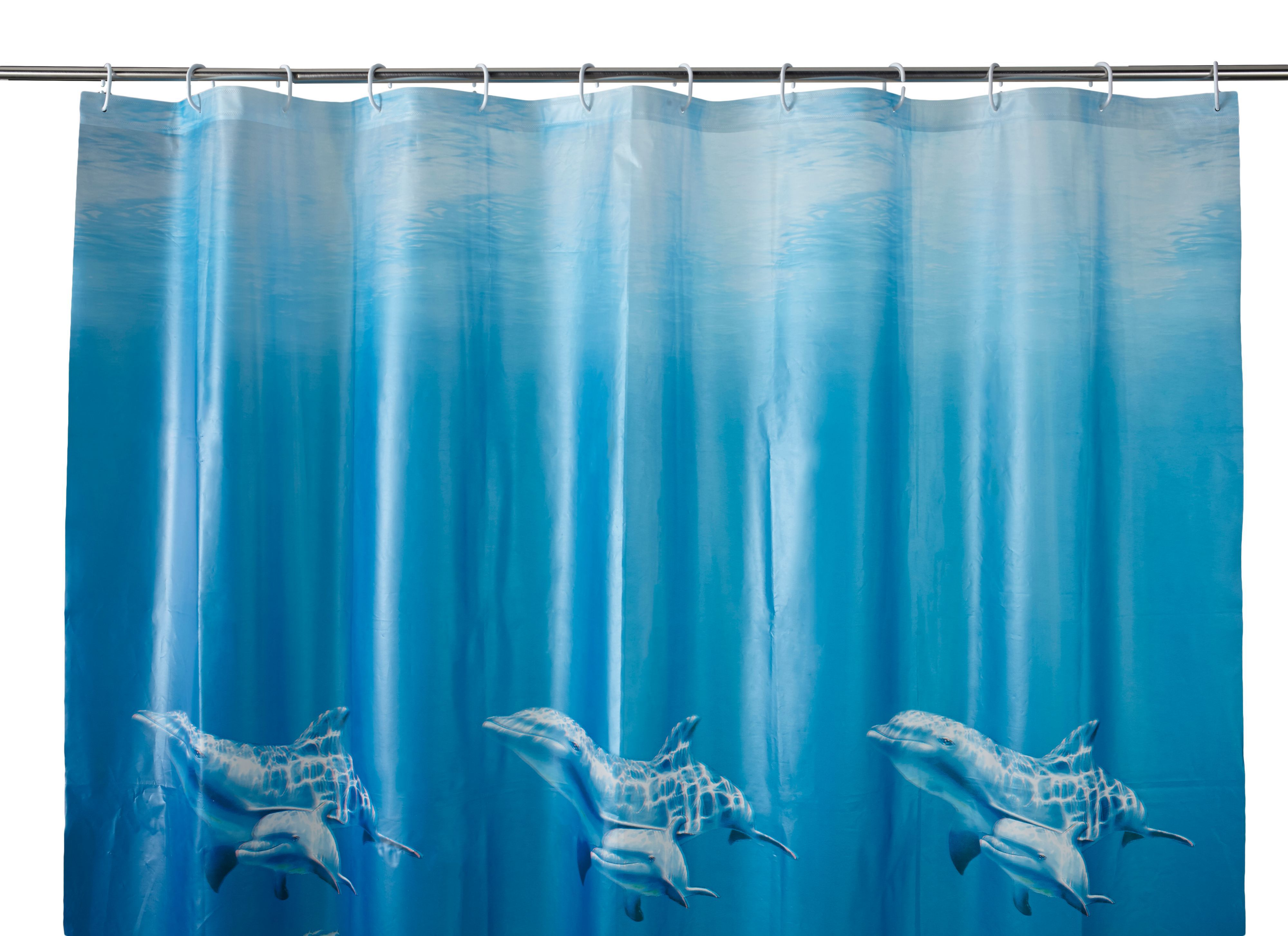 Cooke & Lewis Andrano Multicolour Seafloor Shower Curtain (l)1800 Mm