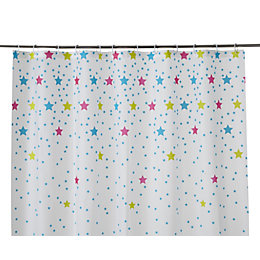 Cooke & Lewis Bhama Multicolour Star Shower Curtain