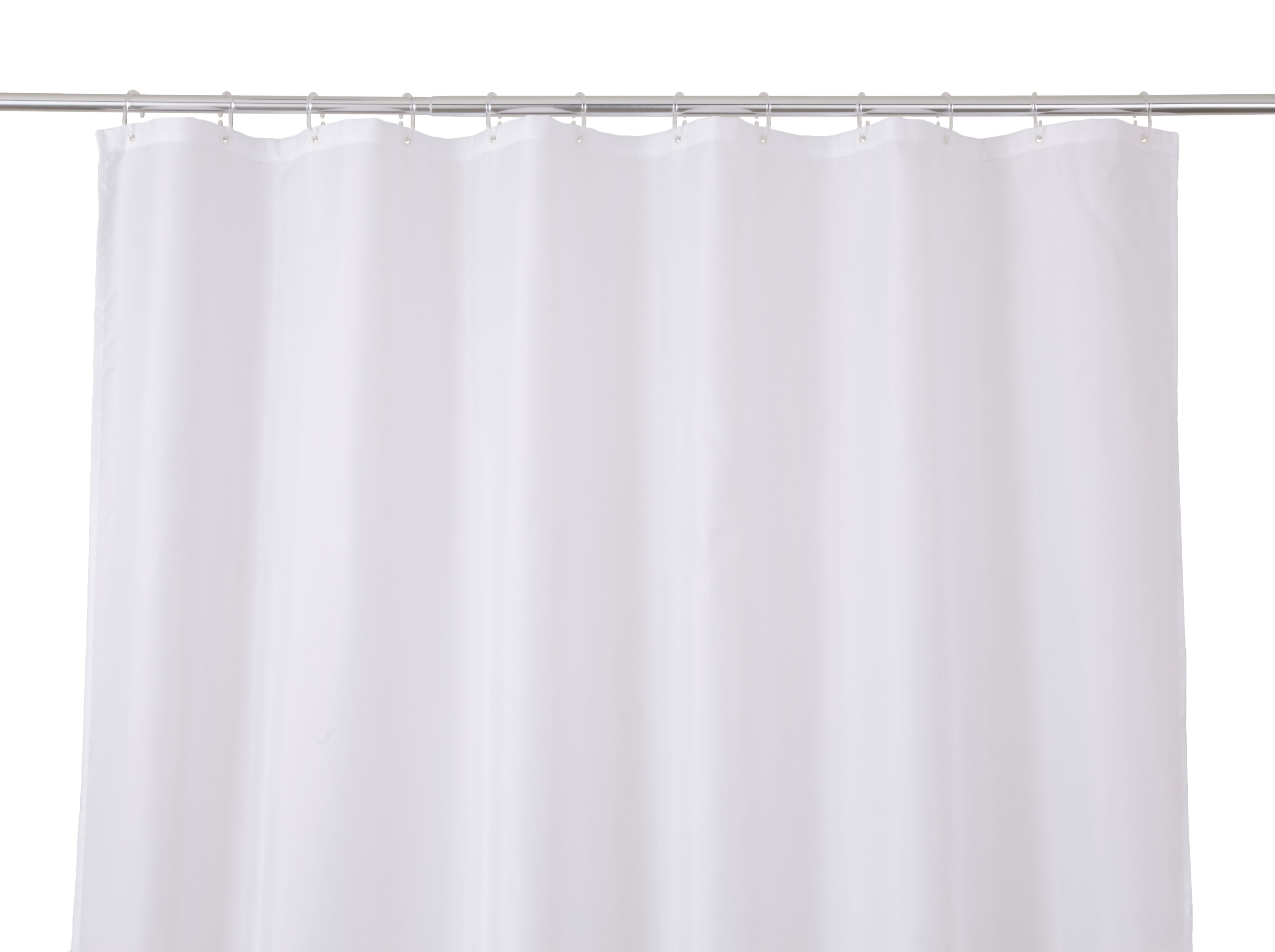 Cooke & Lewis Diani White Shower Curtain (l)1800 Mm