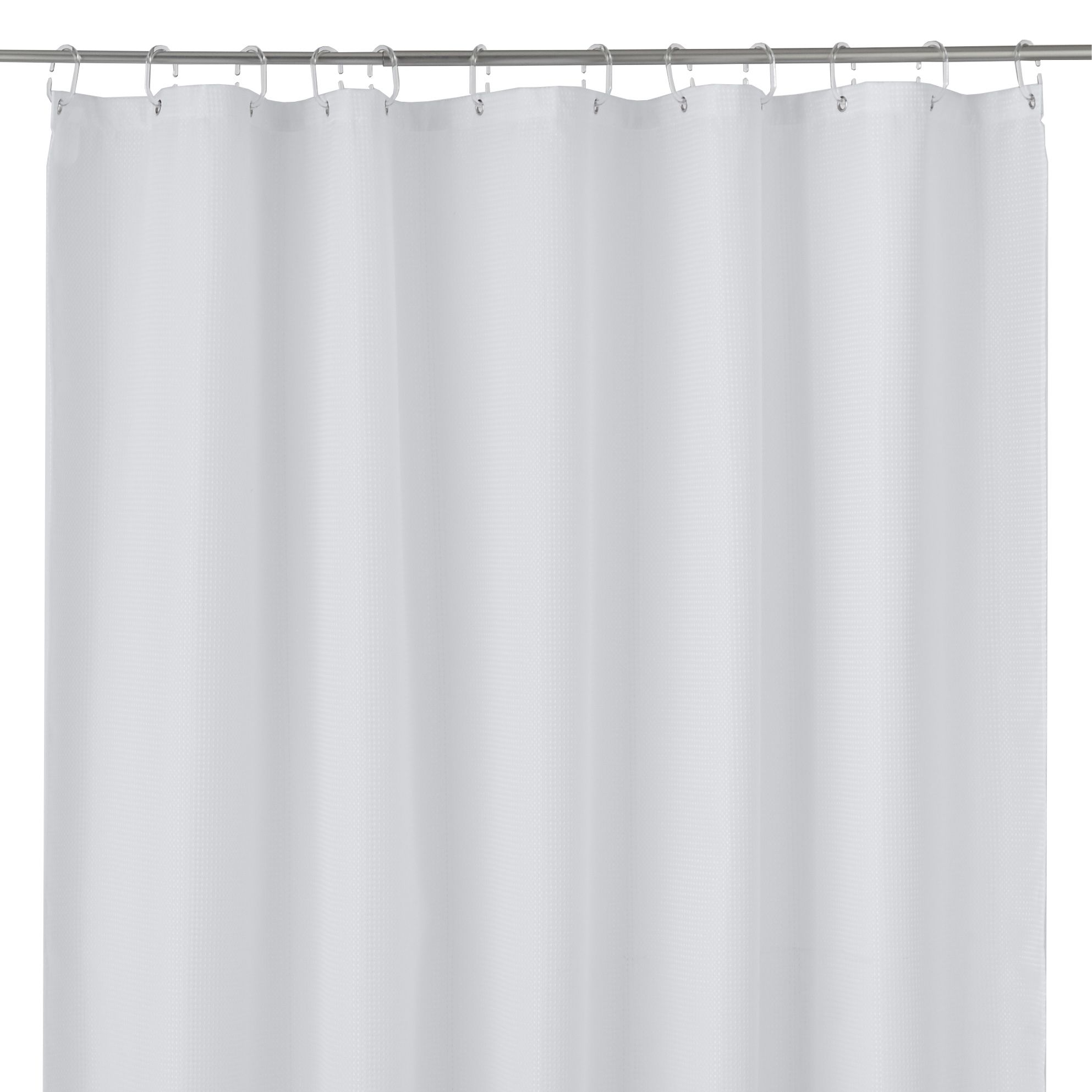 Cooke & Lewis Cecina White Waffle Shower Curtain (l)1800 Mm