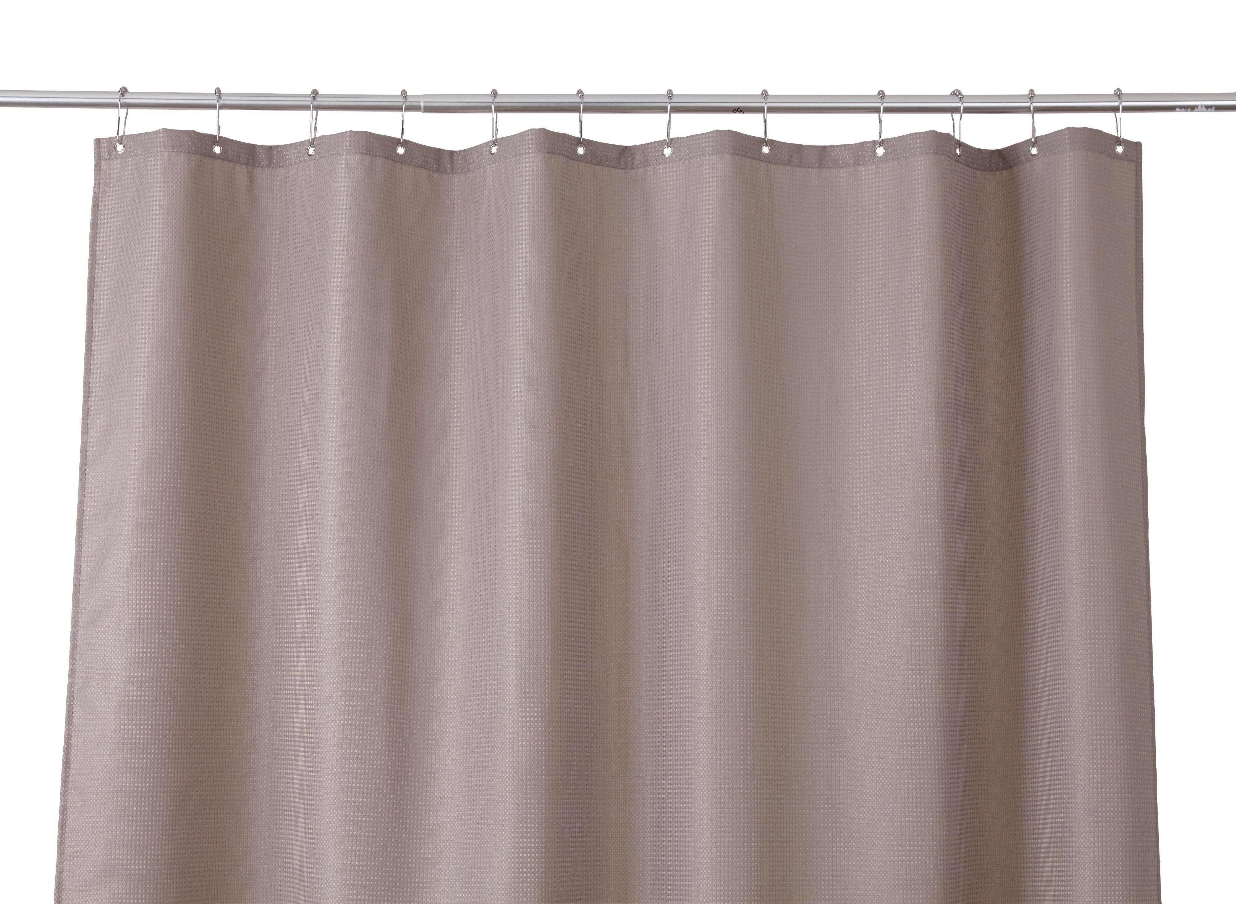 Cooke & Lewis Cecina Greige Waffle Shower Curtain (l)1800 Mm