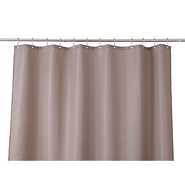 Cooke & Lewis Cecina Greige Waffle Shower Curtain
