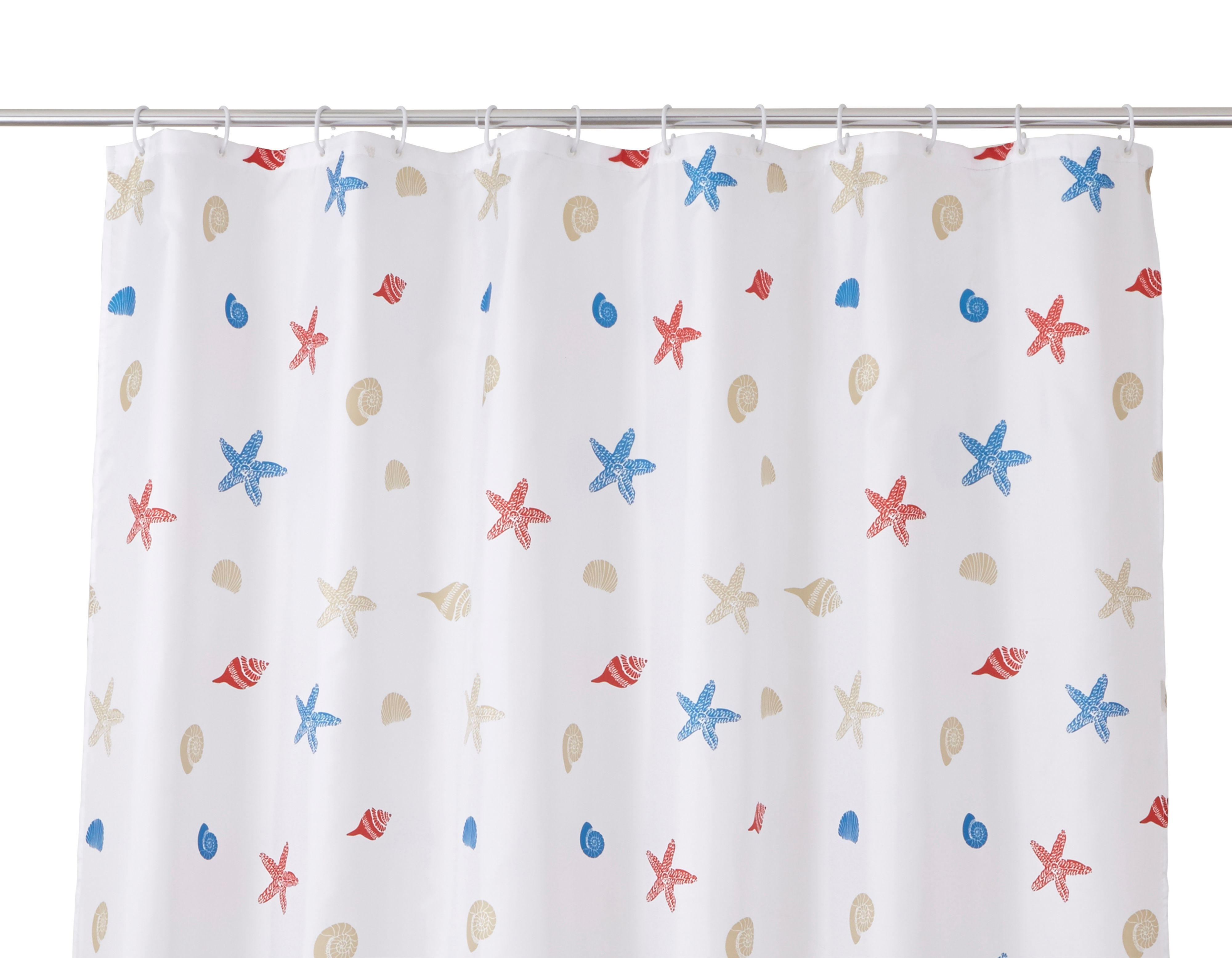 Cooke & Lewis Andrano Multicolour Starfish Shower Curtain (l)1800 Mm