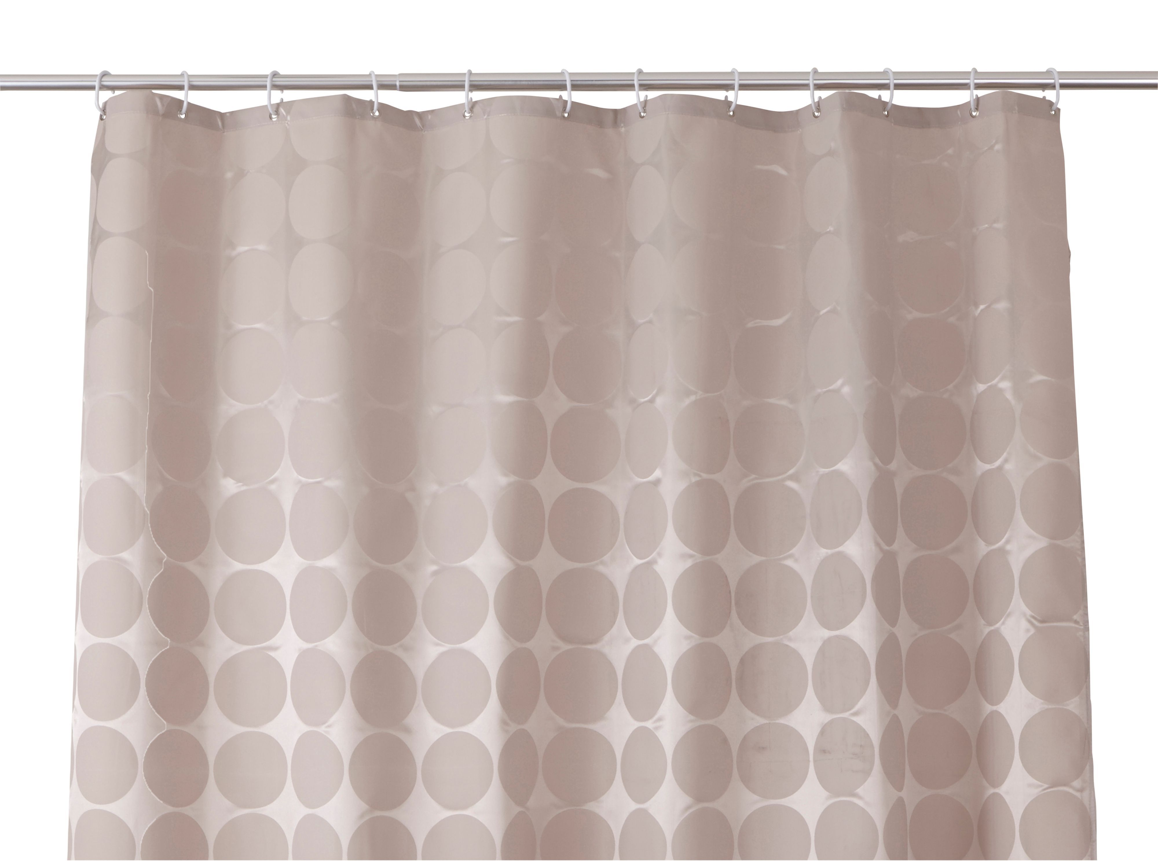 Cooke & Lewis Napo Taupe Dots Shower Curtain (l)1800 Mm