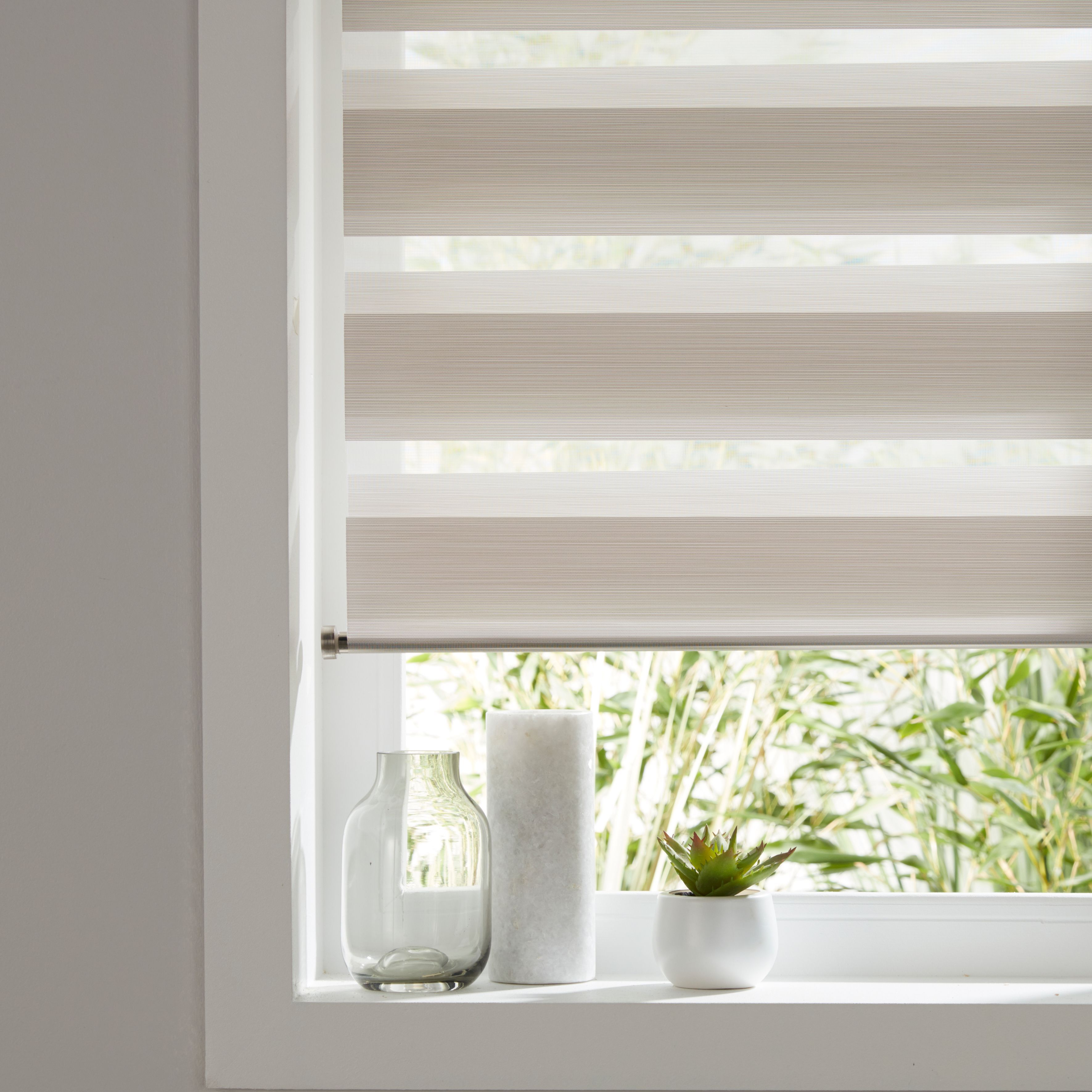 Colours Kala Day & Night Corded Natural Roller Blind (l)180 Cm (w)120 Cm