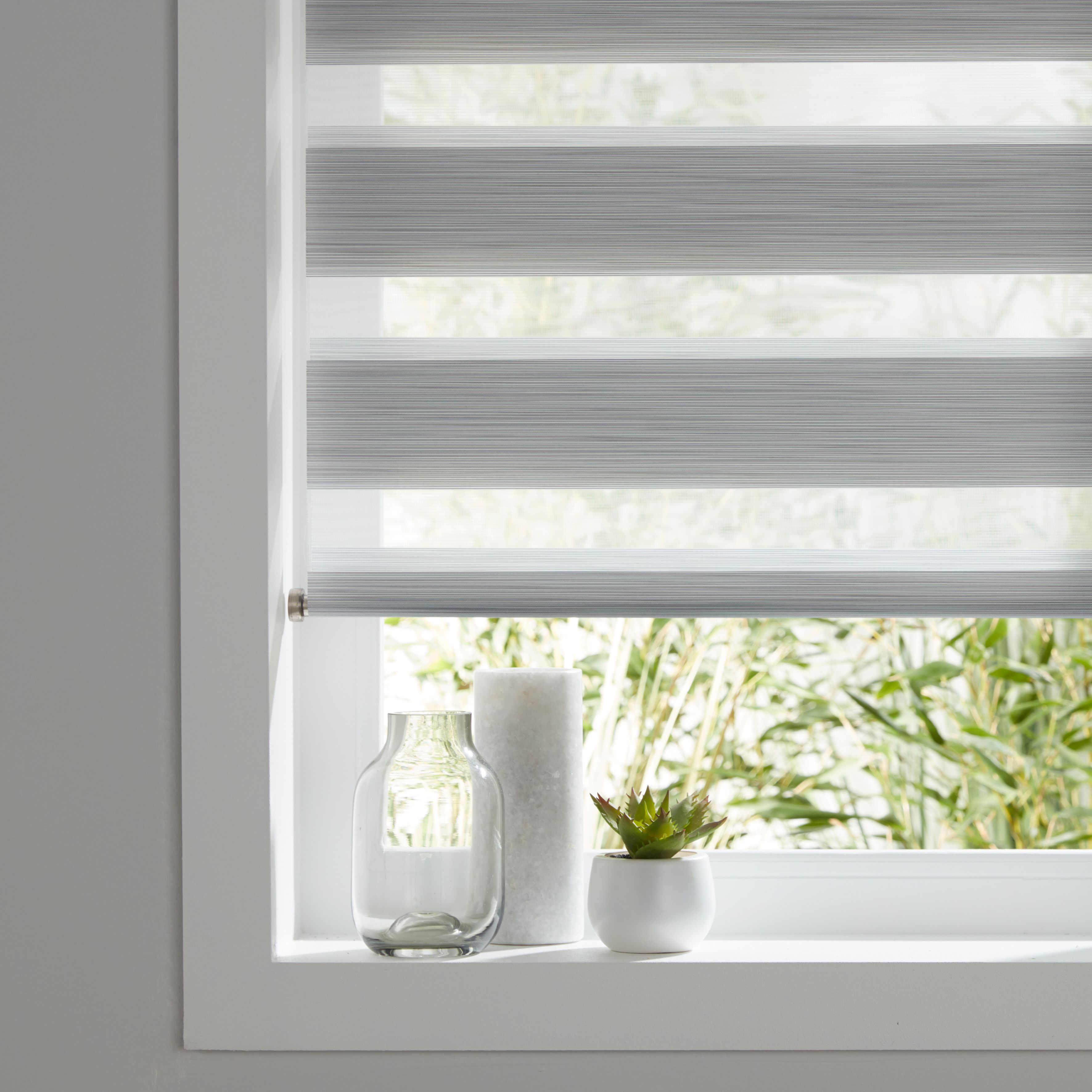 Colours Kala Day & Night Corded Grey Roller Blind (l)180 Cm (w)120 Cm