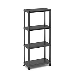 Black & Matt Shelving Unit (H)1350mm (W)600mm