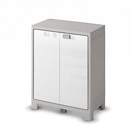Form Major Light Grey & White Low Cabinet