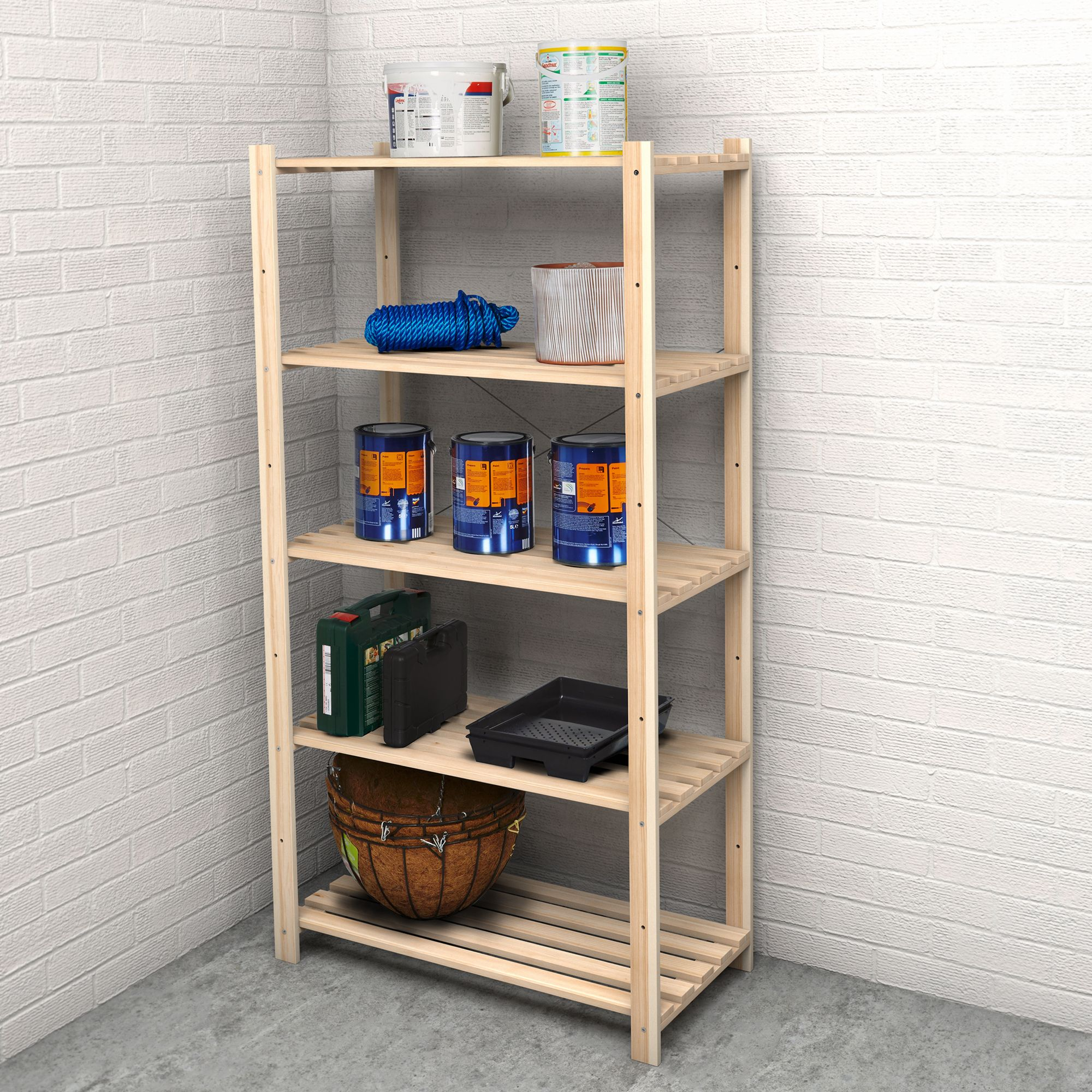 Wooden Shelving Units