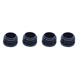 B&Q Black Plastic Insert Cap (Dia)21mm, Pack of