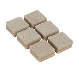 B&Q Beige Felt Pad, Pack of 12