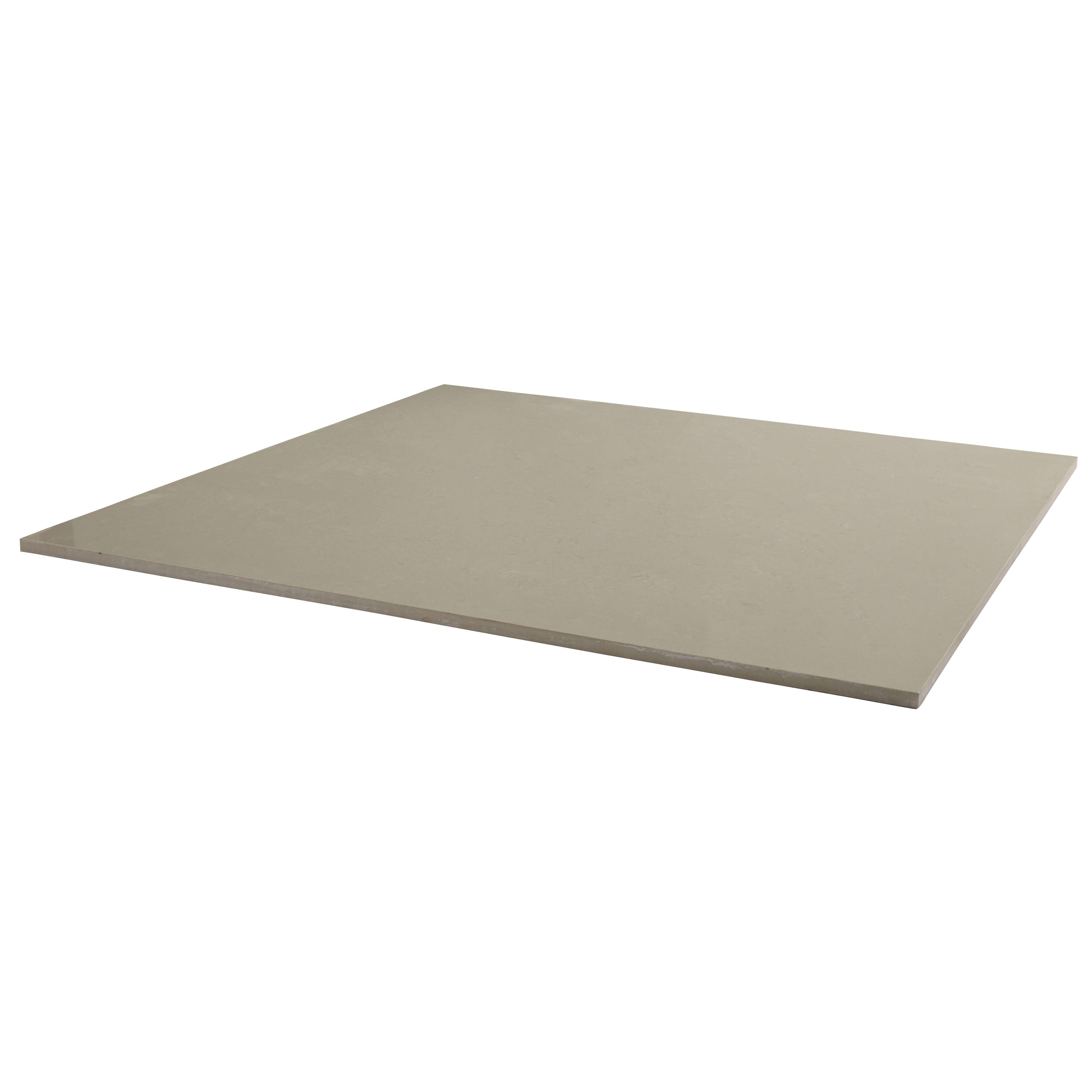 Imperiali Beige Polished Porcelain Floor Tile, Pack Of 3, (l)600mm (w)600mm