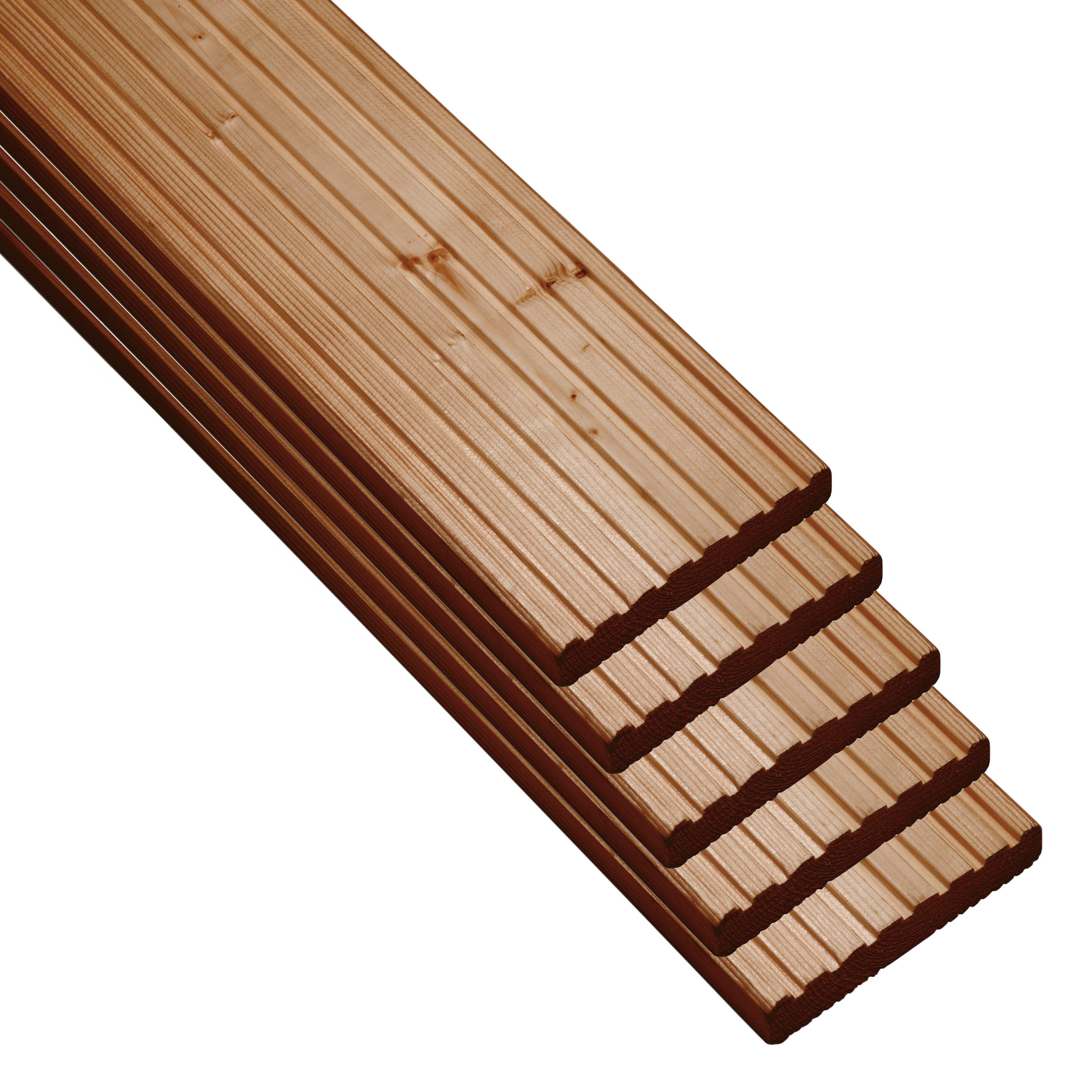 Nevou Premium Brown Deck Board (t)27mm (w)144mm (l)2400mm, Pack Of 5