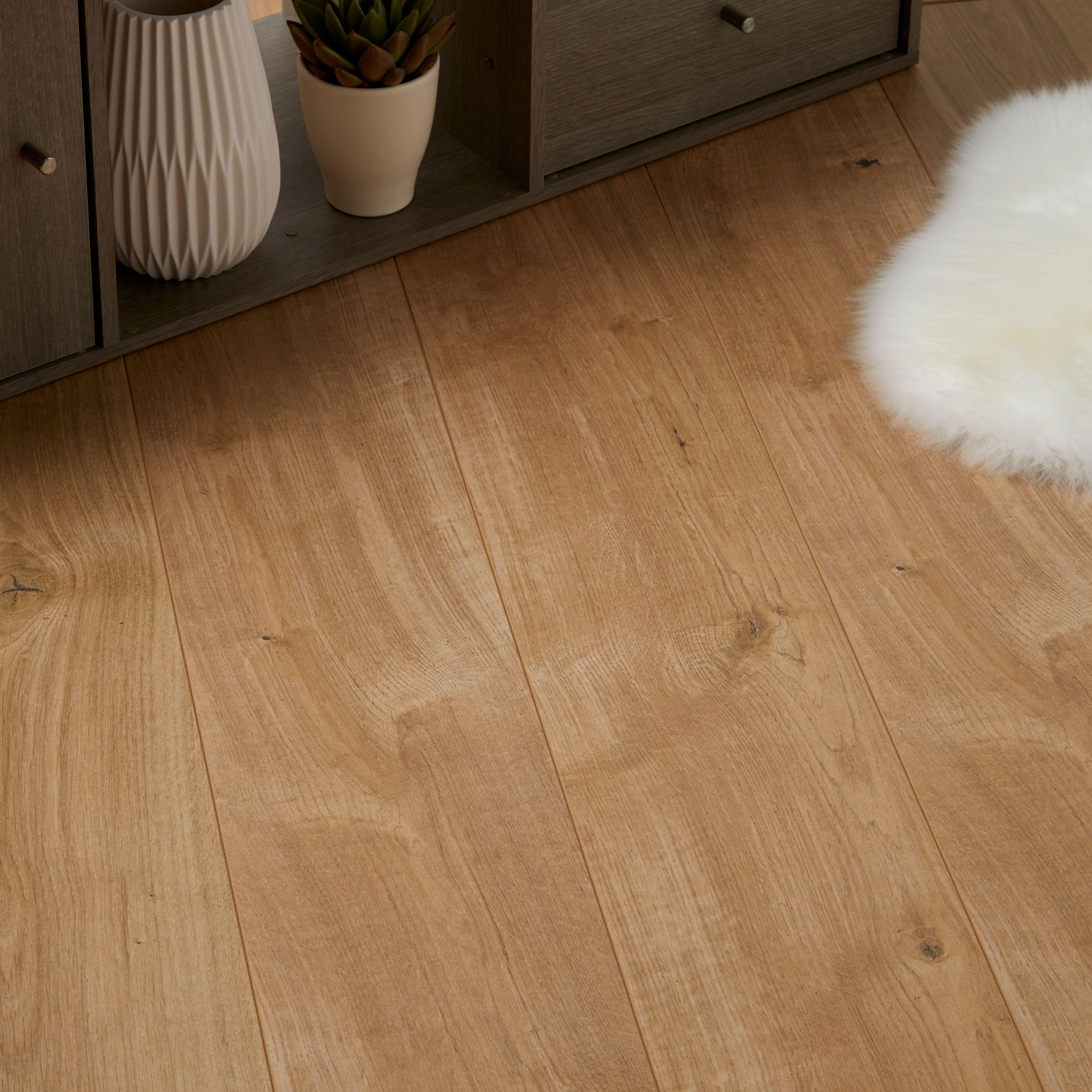 Attractive Natural Oak Effect Laminate Flooring Part - 4: Gladstone Natural Oak Effect Laminate Flooring 1.996 M² Pack | Departments  | DIY At Bu0026Q