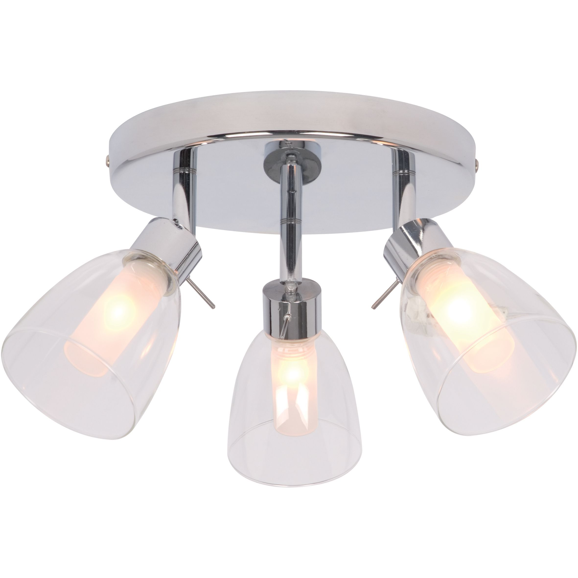 Geni Chrome-Plated 3 Lamp Bathroom Spotlight | Departments | DIY at B&Q