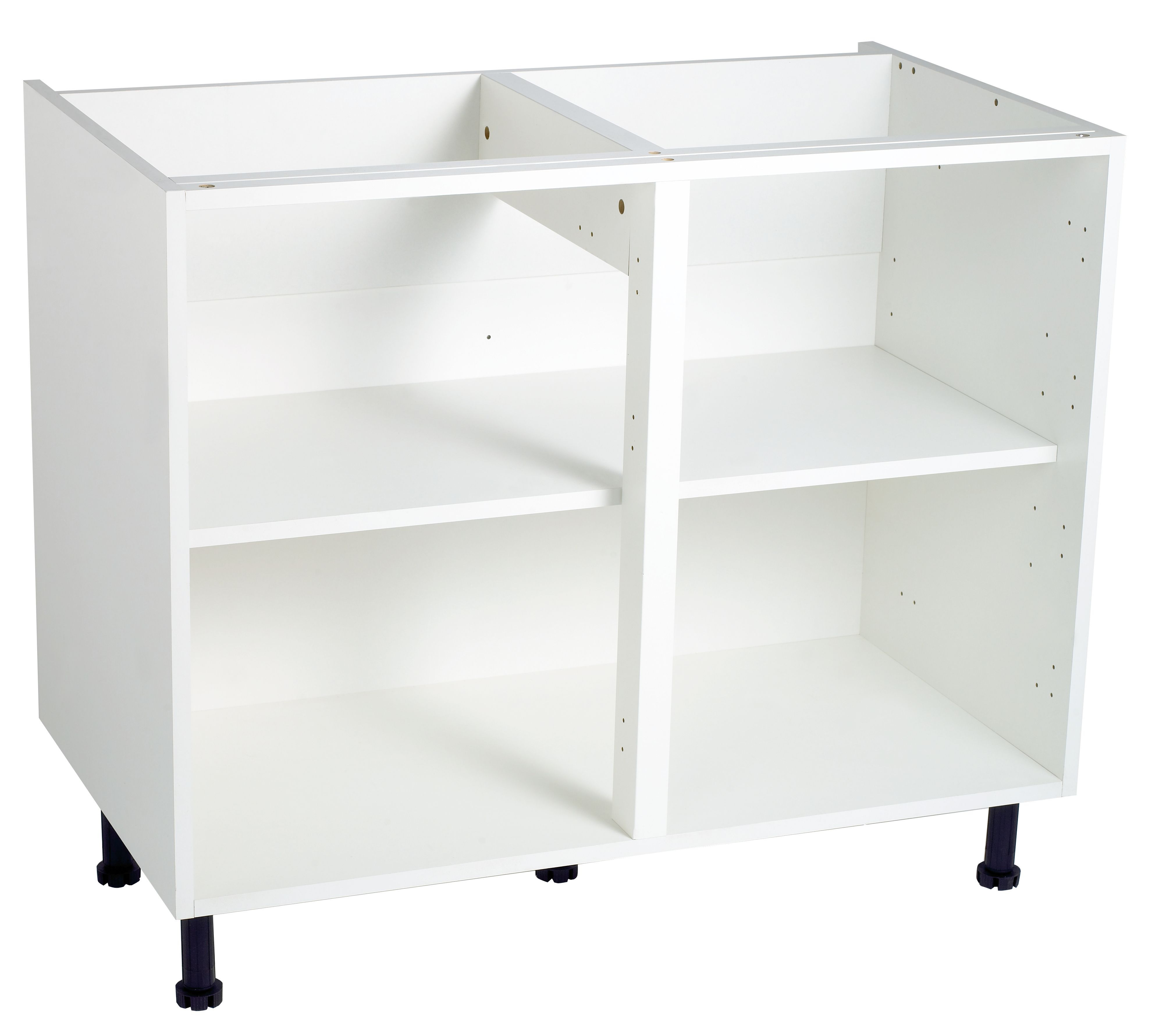 cooke lewis white standard base cabinet unit carcass w 1m
